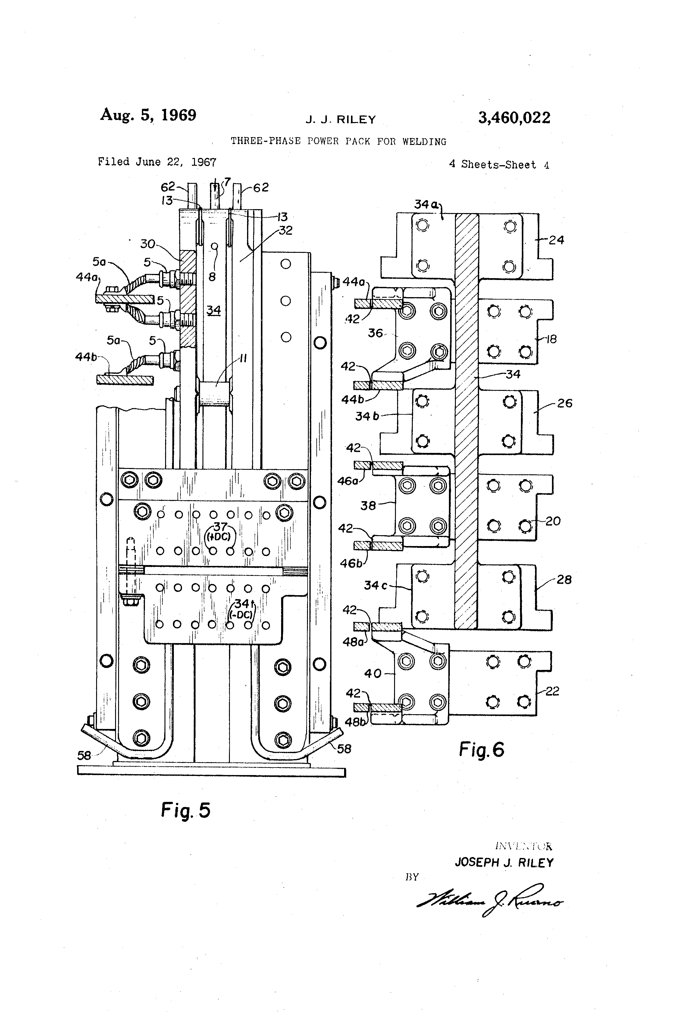 Patent Us3460022 Three Phase Power Pack For Welding Google Patents 3 Machine Diagram Drawing