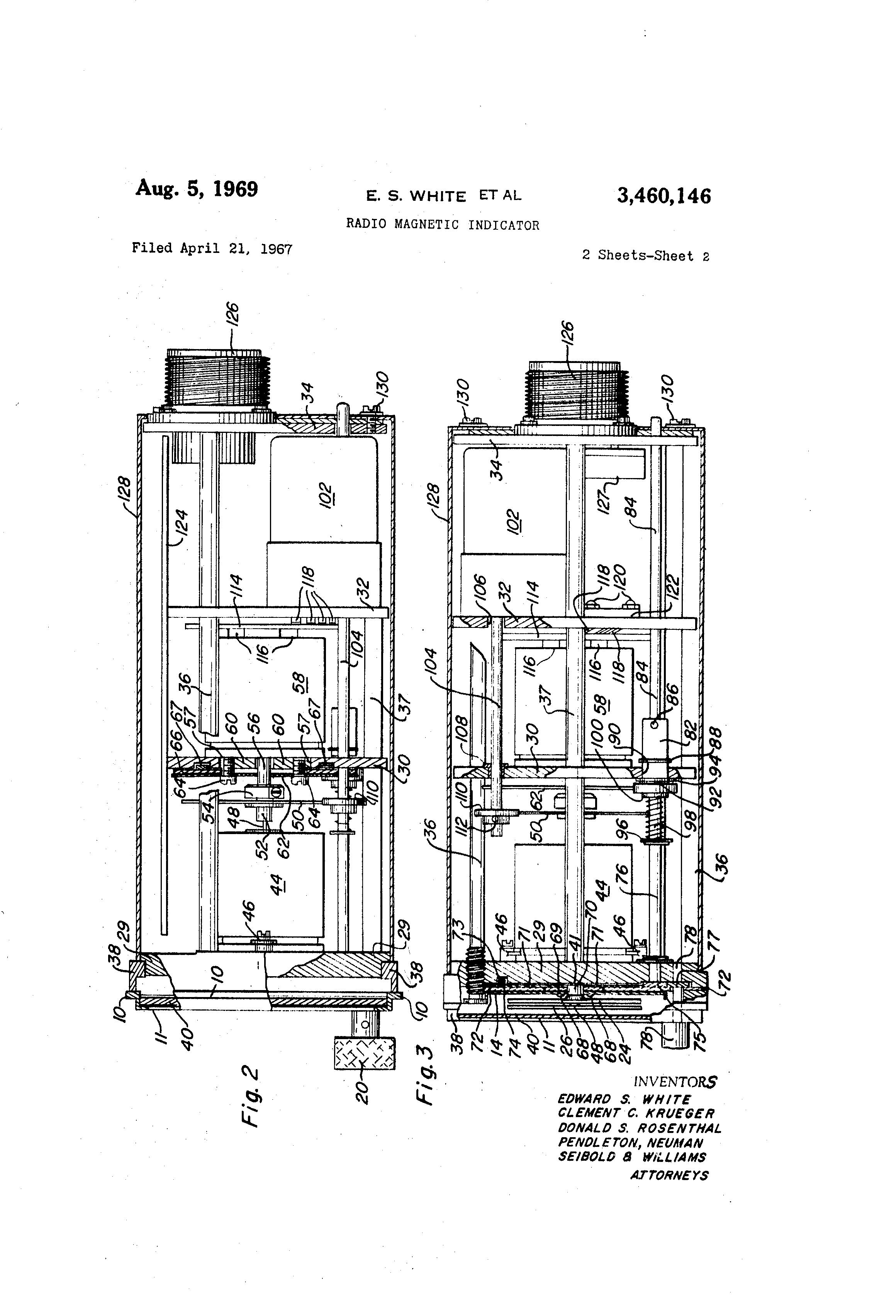 patent us3460146 - radio magnetic indicator