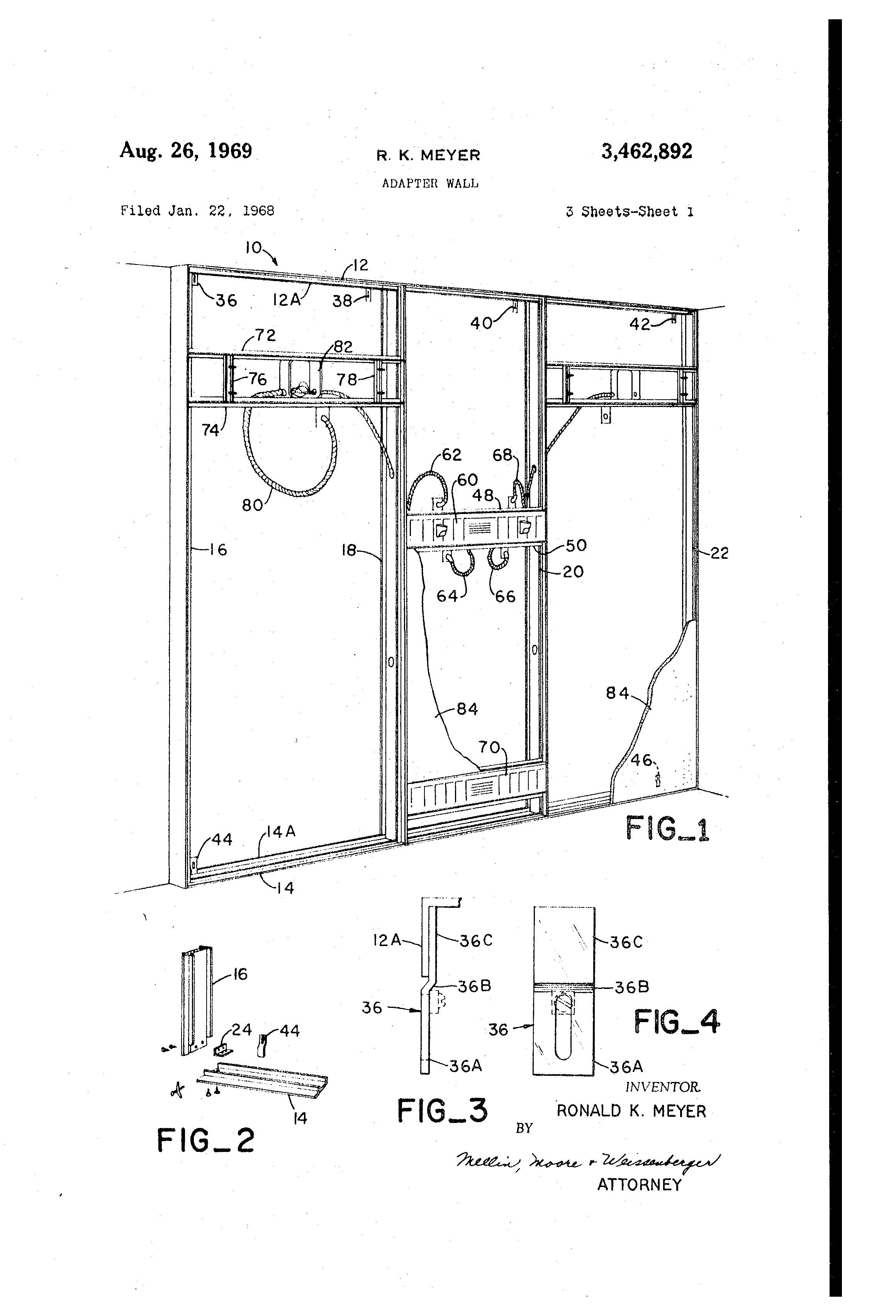 patent us3462892 - adapter wall