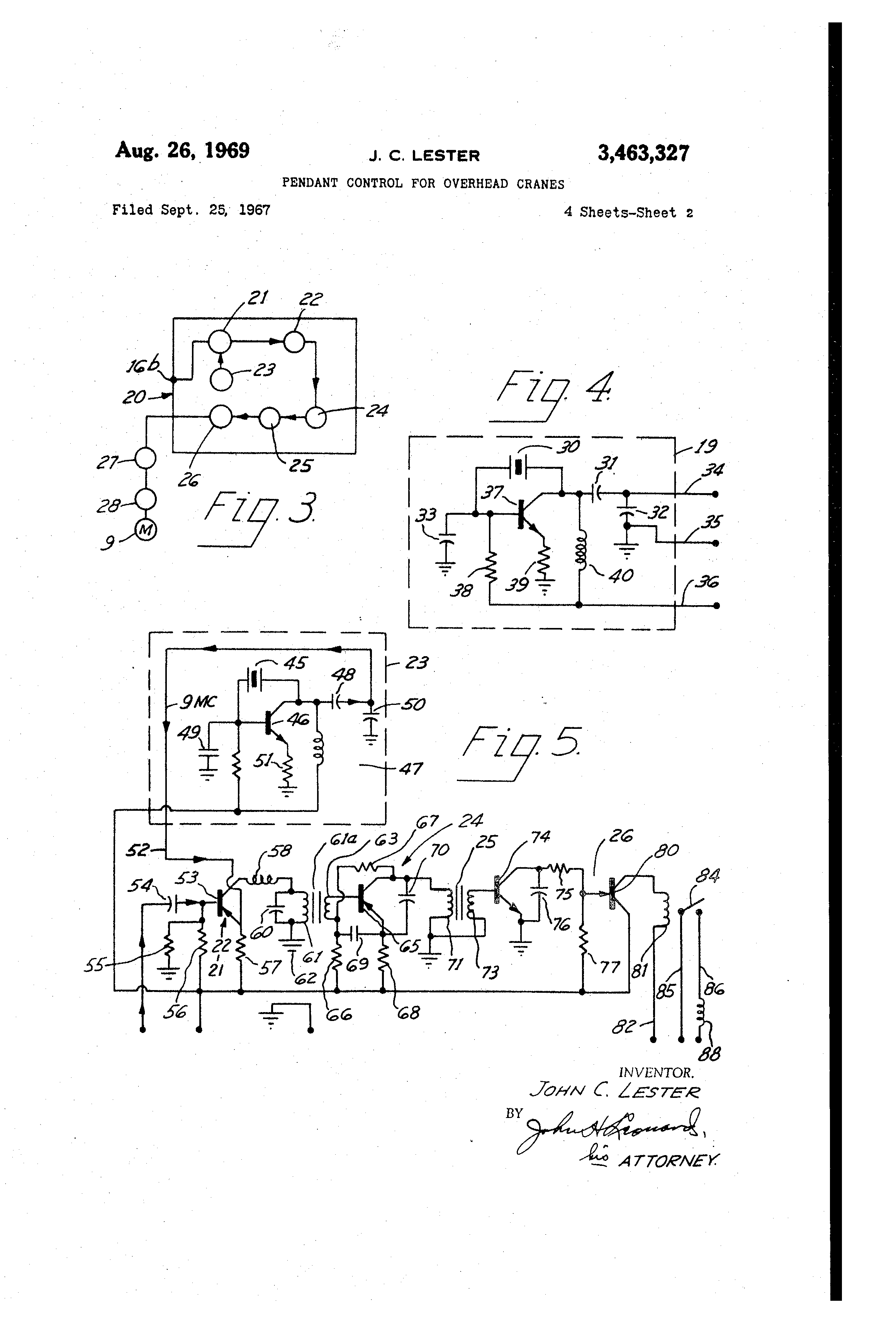 US3463327 1 patent us3463327 pendant control for overhead cranes google demag crane wiring diagram at reclaimingppi.co