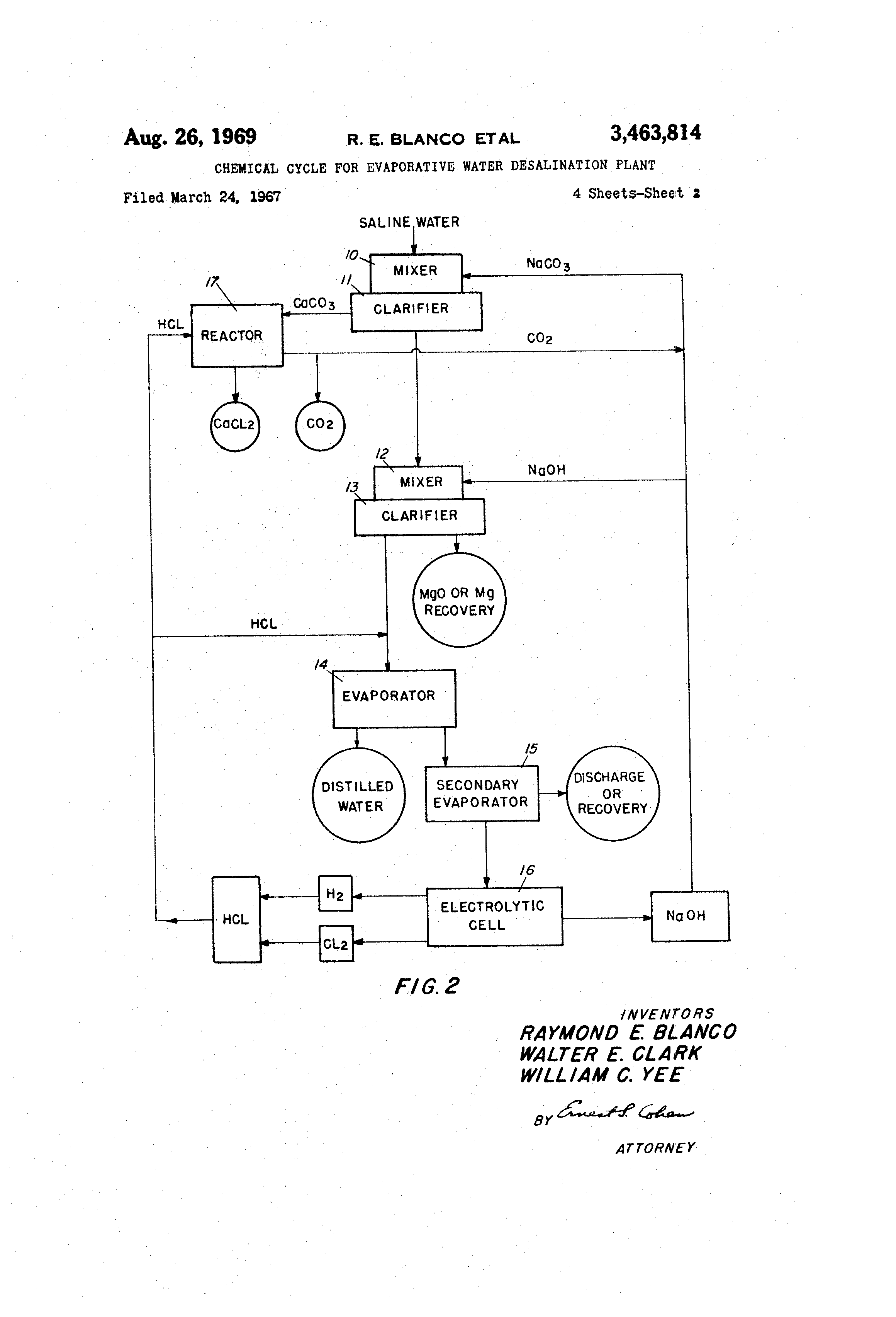 Patent US Chemical cycle for evaporative water