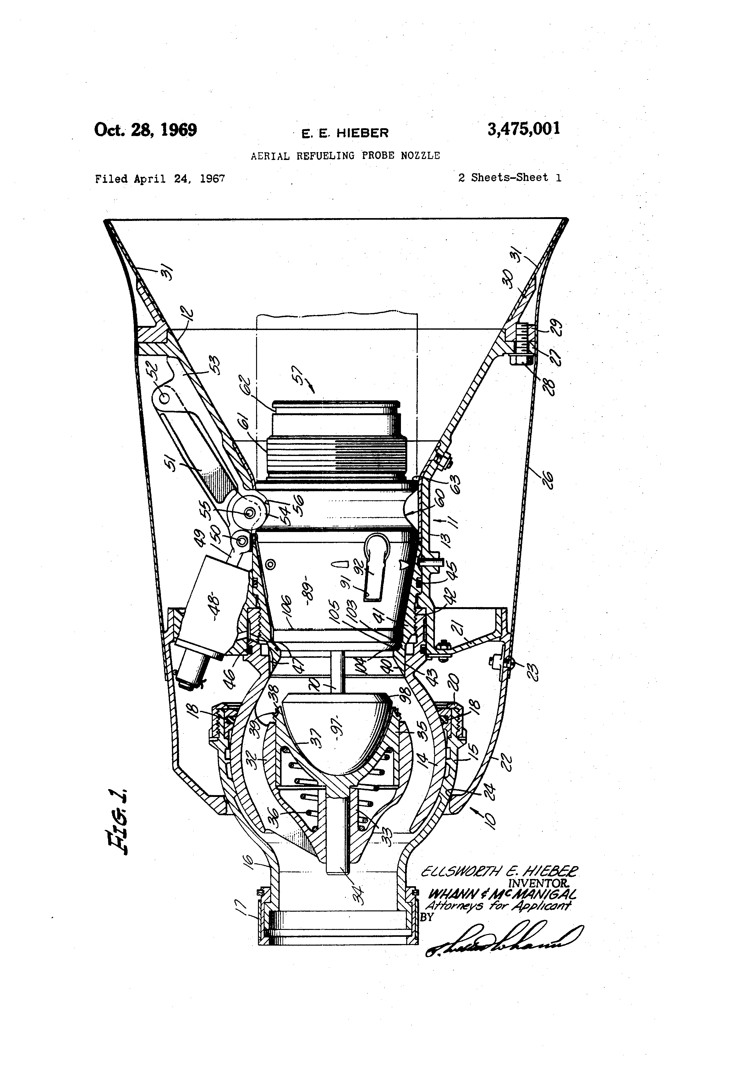 Patent Us3475001 Aerial Refueling Probe Nozzle Google