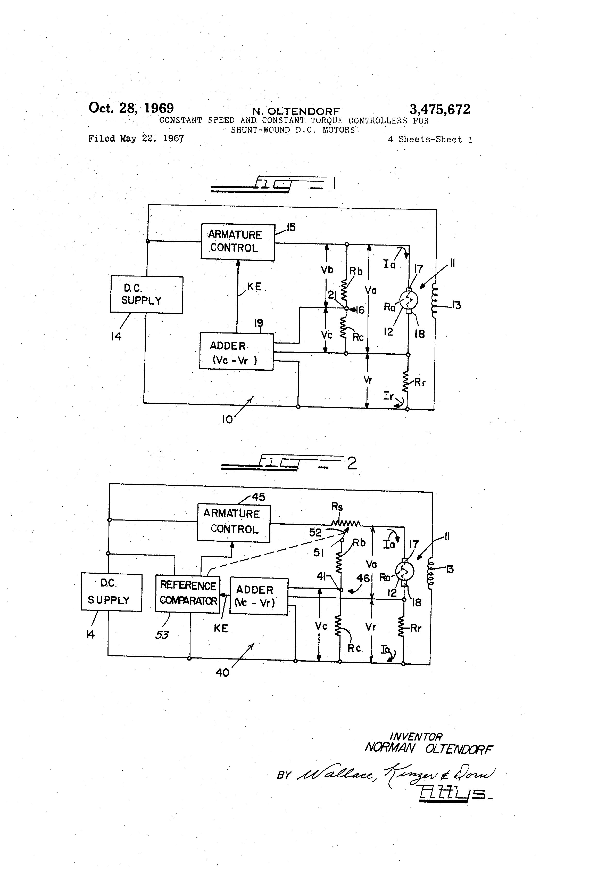 US3475672 0 patent us3475672 constant speed and constant torque controllers shunt wound dc motor wiring diagram at bakdesigns.co