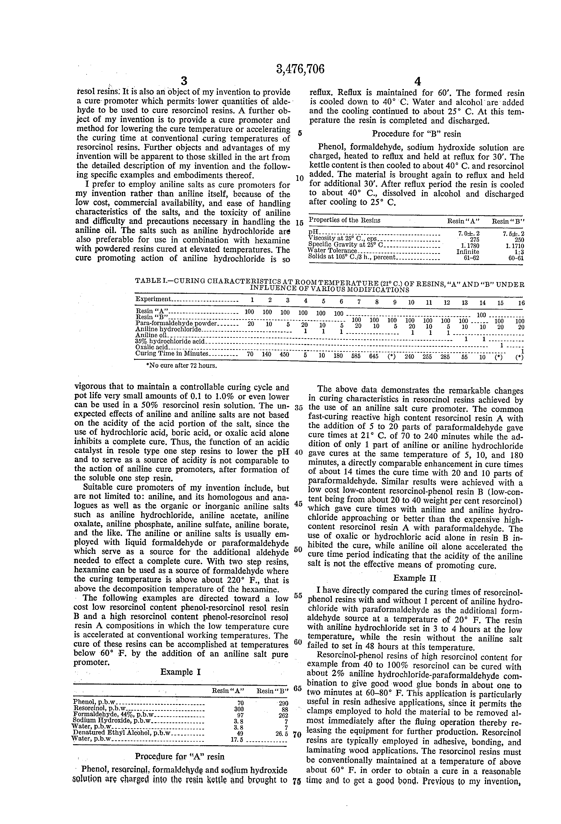 patent us curing resorcinol aldehyde resol resins  patent drawing