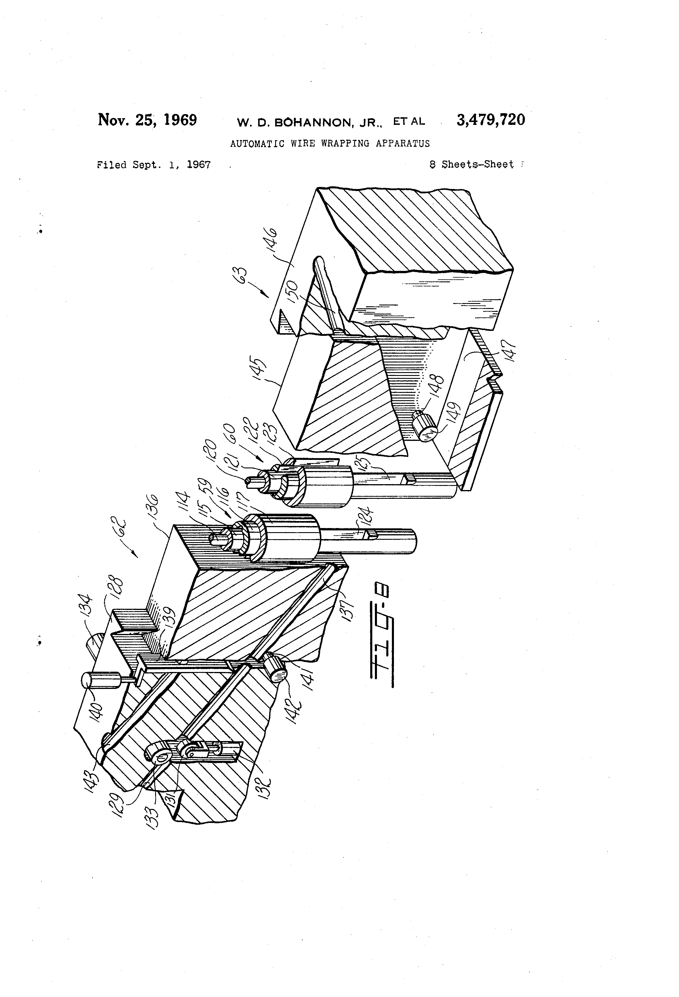 Patent Us3479720 Automatic Wire Wrapping Apparatus Google Patents Auto Diagram Drawing