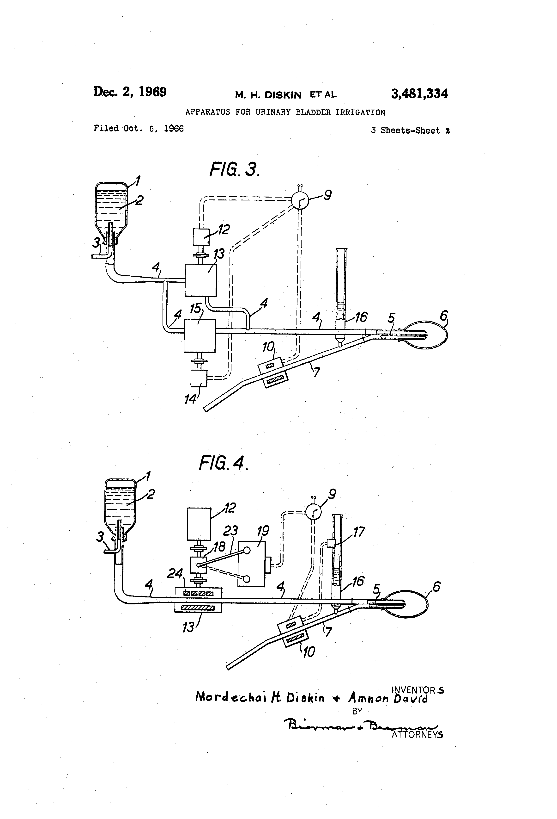 patent us3481334 apparatus for urinary bladder irrigation The Muscles of Legs by the Knee patent drawing