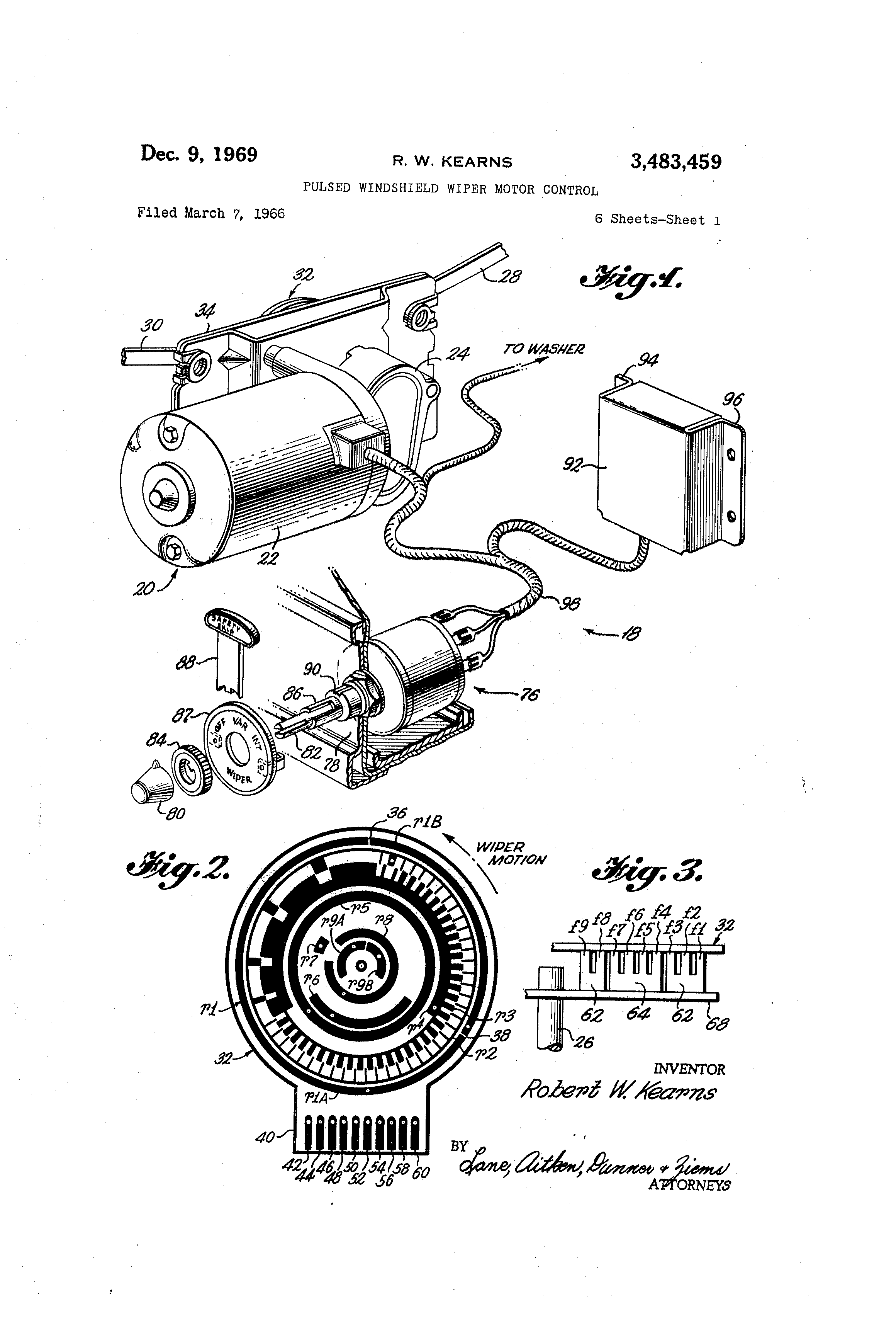 US3483459 0 patent us3483459 pulsed windshield wiper motor control google gmf electric motor wiring diagram at soozxer.org