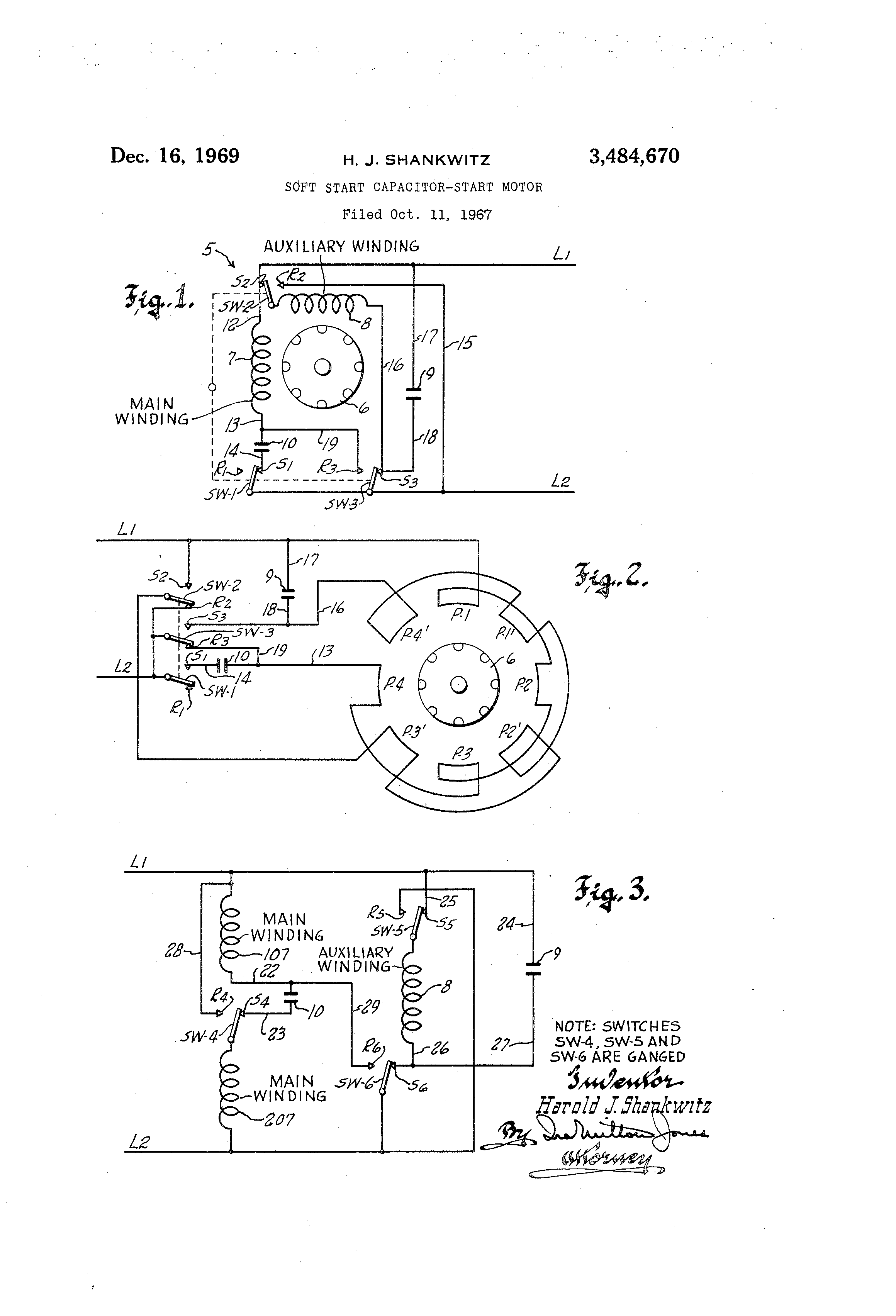 US3484670 0 patent us3484670 soft start capacitor start motor google patents single phase capacitor start-capacitor-run motor wiring diagram at honlapkeszites.co