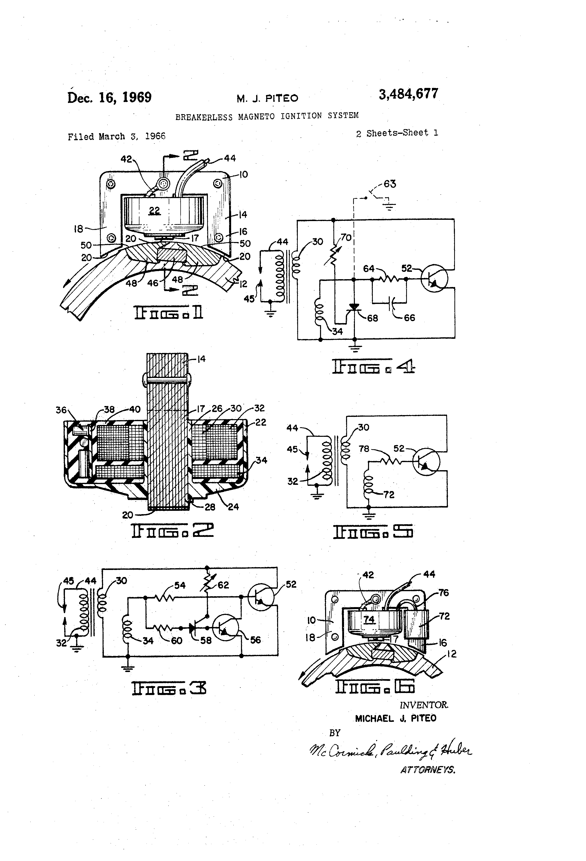 patent us3484677 - breakerless magneto ignition system - google patents breakerless ignition wiring diagram john deere 265 ignition wiring diagram #7