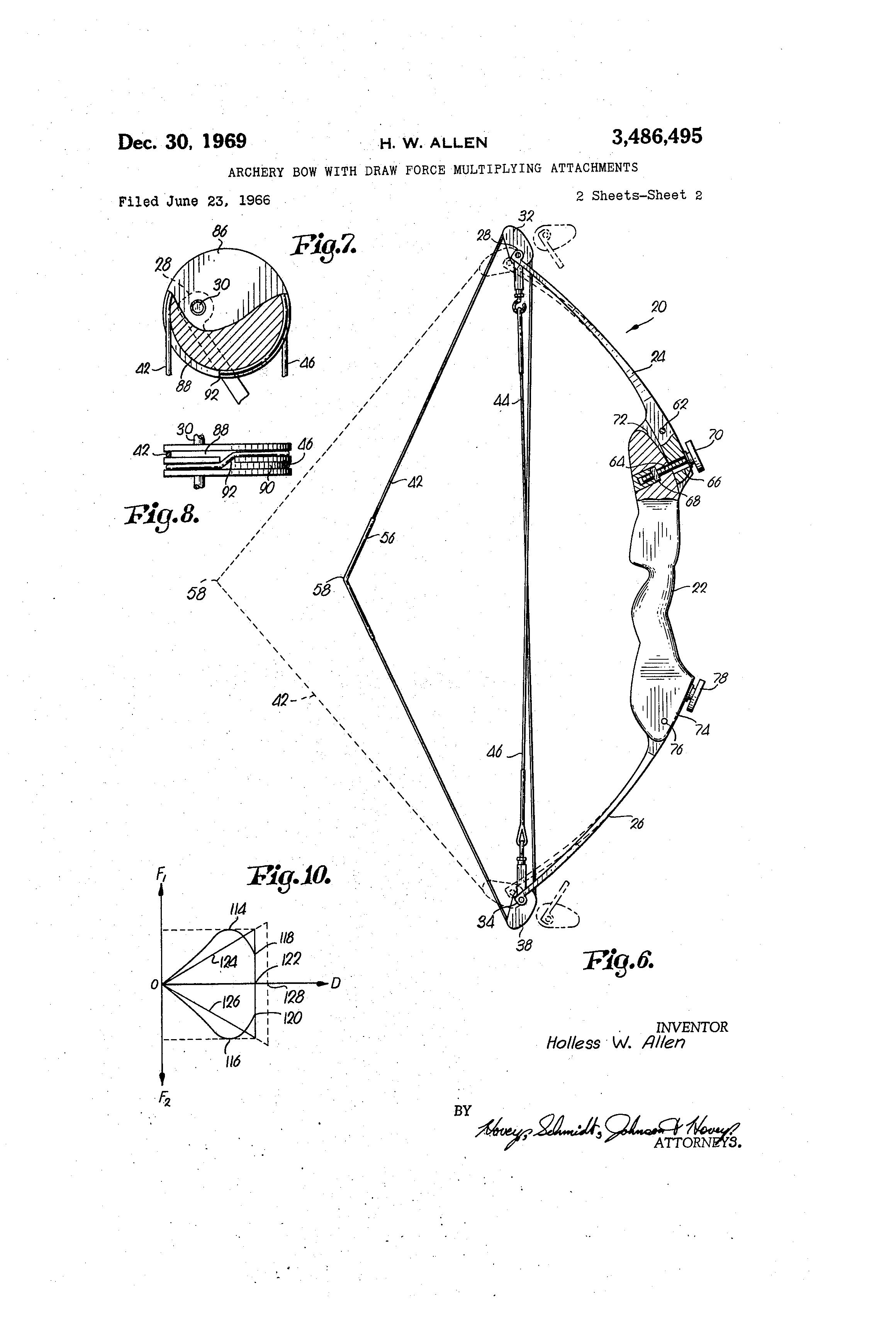 Bild-Link zur technischen Zeichnung eines Compoundbogens für die Patent-Anmeldung.