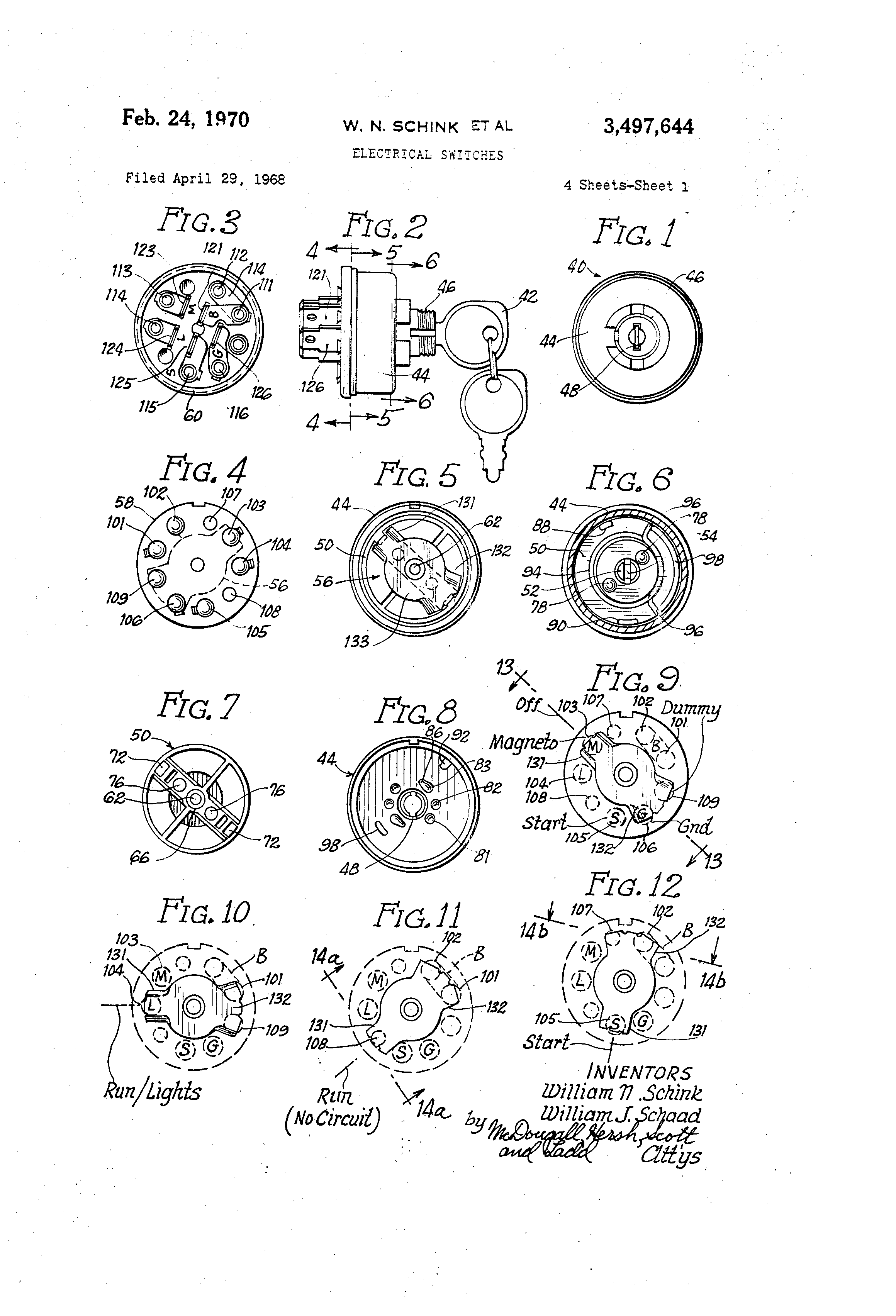 Delta Systems Ignition Switch Wiring Diagram 44 Chrysler 115 Patent Us3497644 Electrical Switches Google Patents