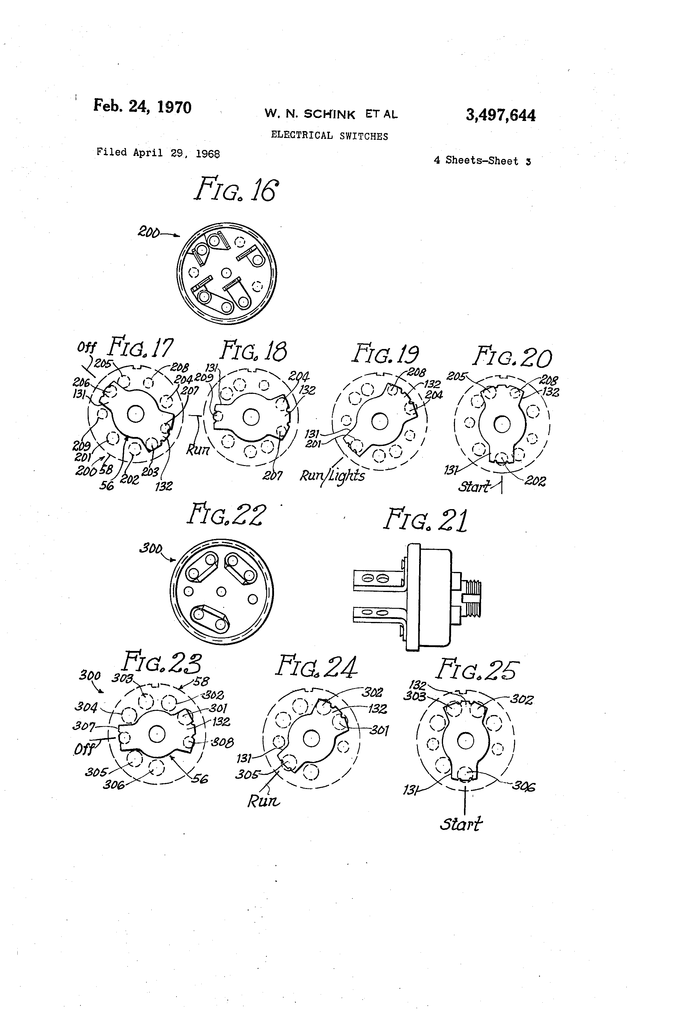 US3497644 2 patent us3497644 electrical switches google patents indak ignition switch wiring diagram at mifinder.co