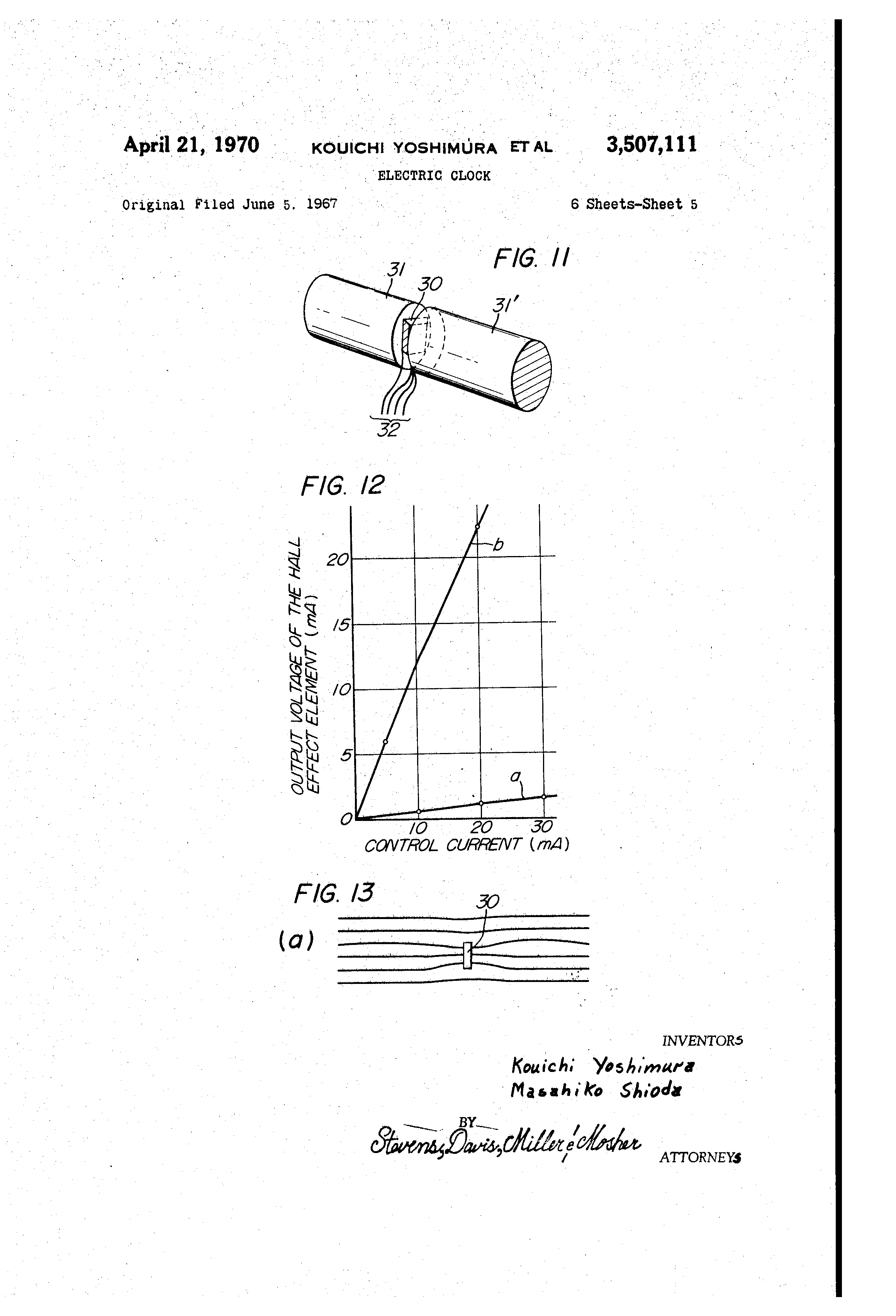 Patent US3507111 - Electric clock - Google Patents