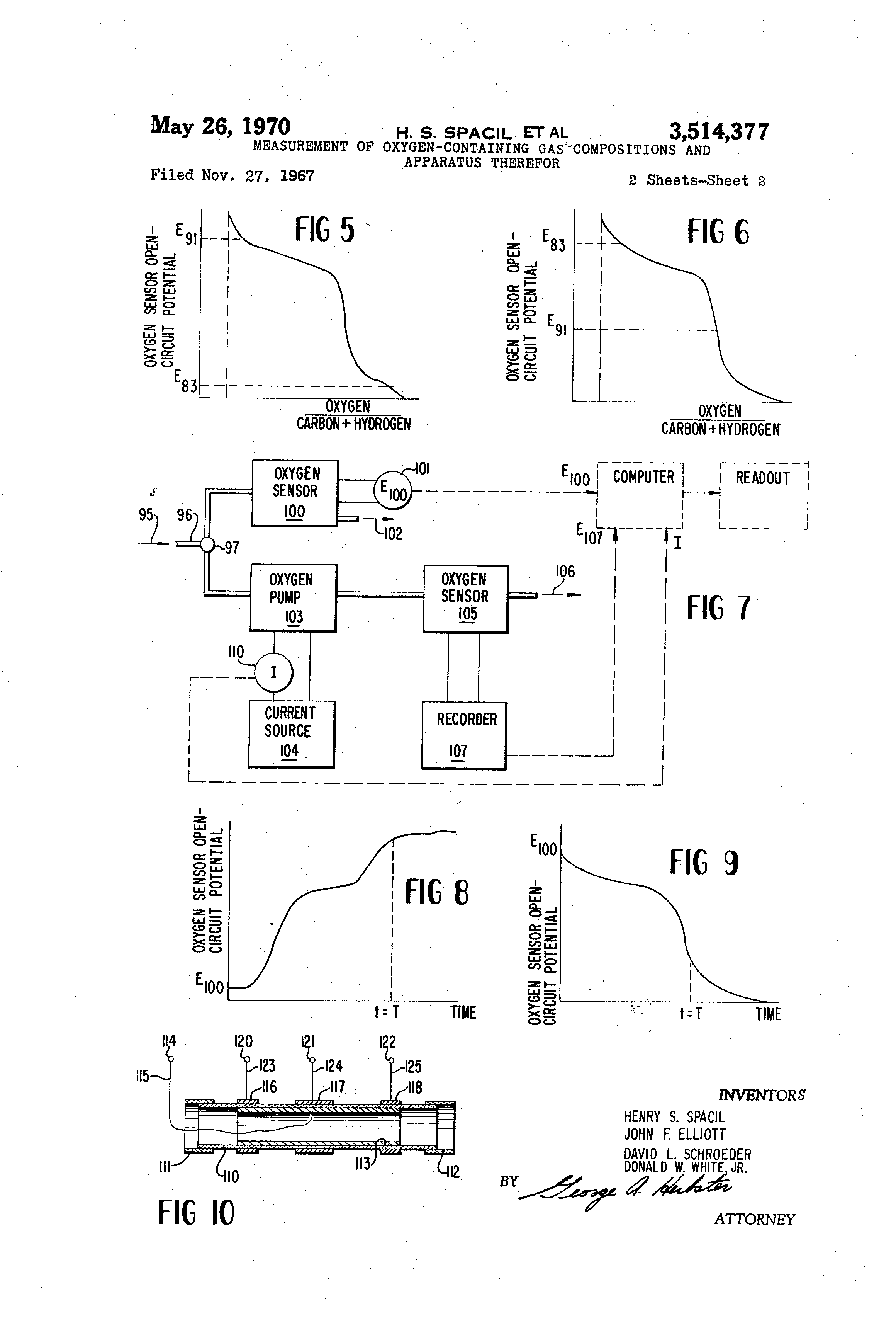 Patent Us3514377 Measurement Of Oxygen Containing Gas Compositions Sensor Circuit Open Drawing