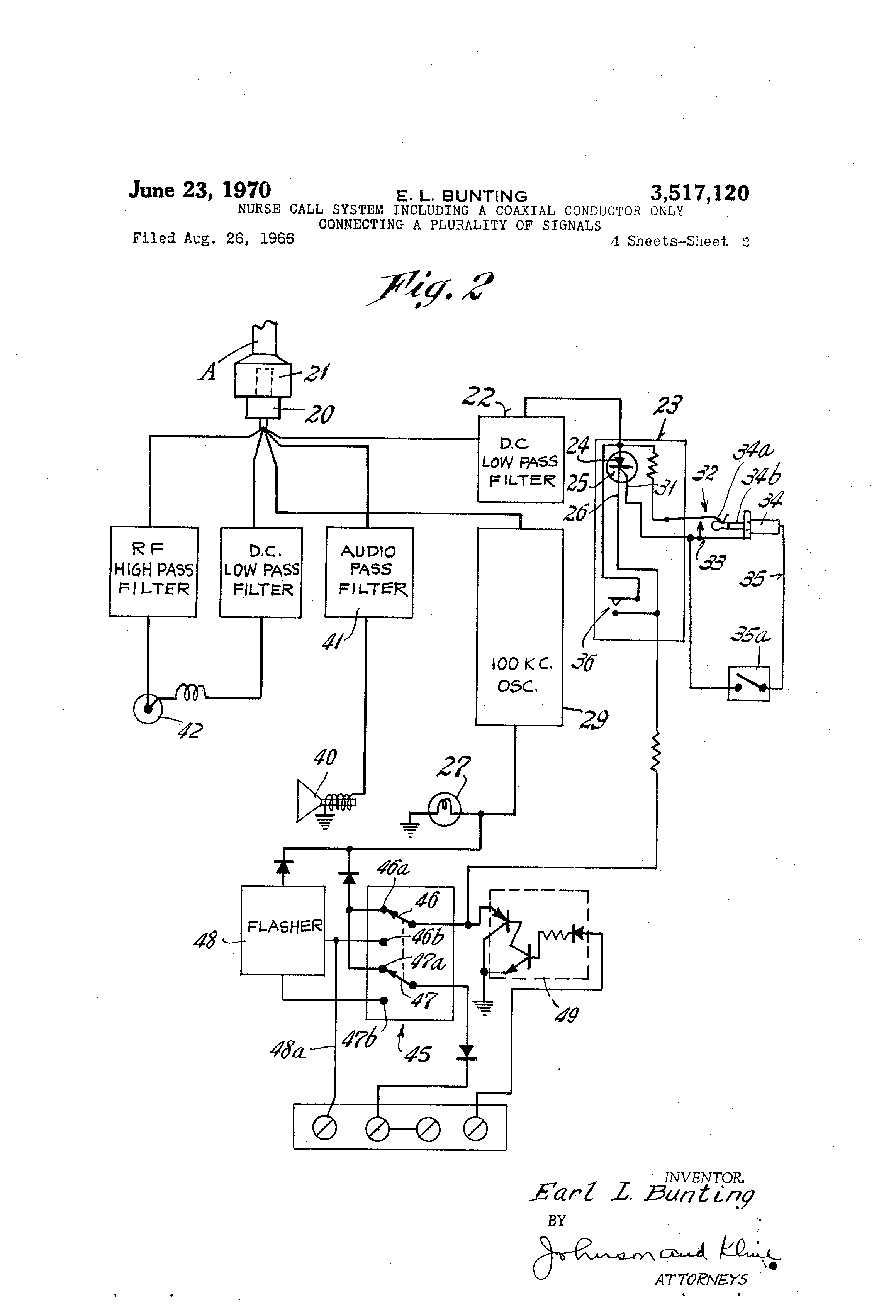US3517120 1 patent us3517120 nurse call system including a coaxial conductor gamewell master box wire diagram at alyssarenee.co