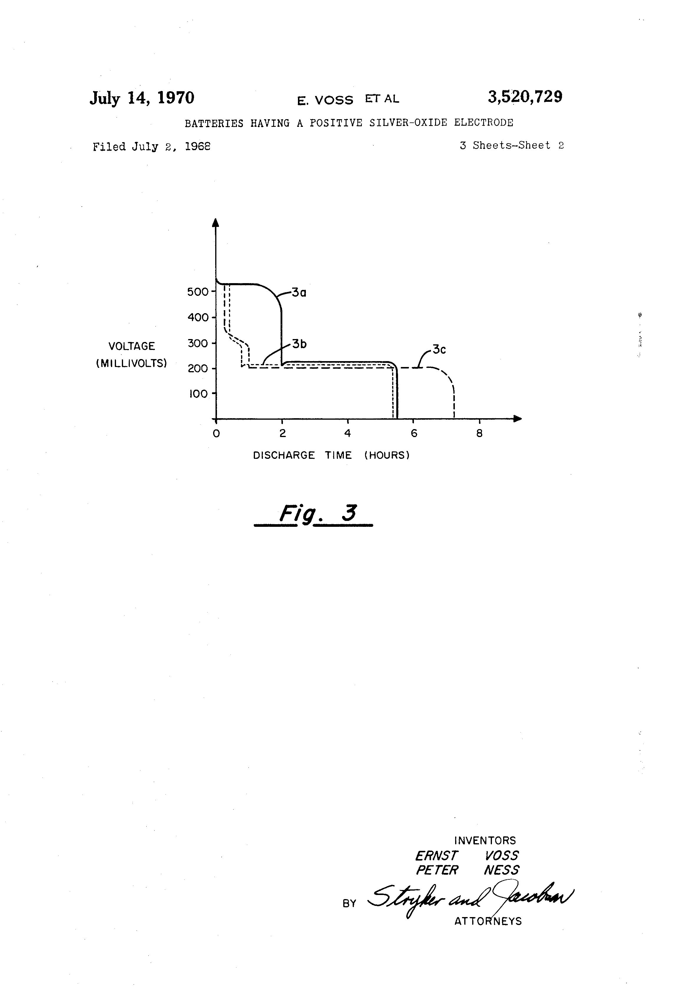 Us3520729a Batteries Having A Positive Silver Oxide Electrode Diagram Of Leclanche Dry Cell Battery Google Patents