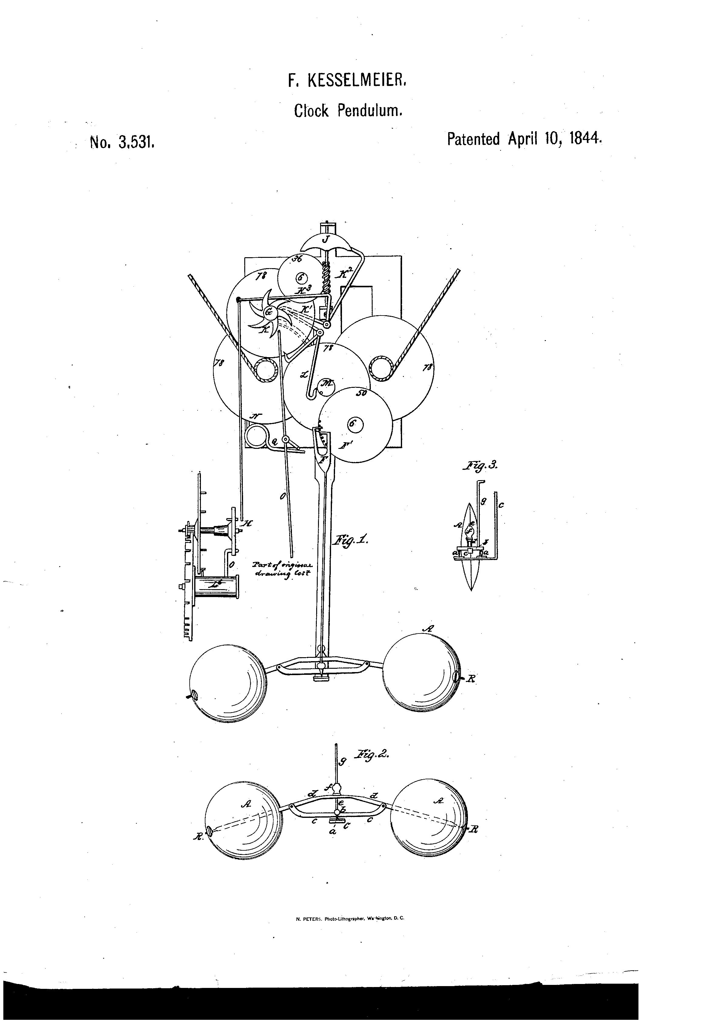 Patent US3531 - Clock-pendulum - Google Patents