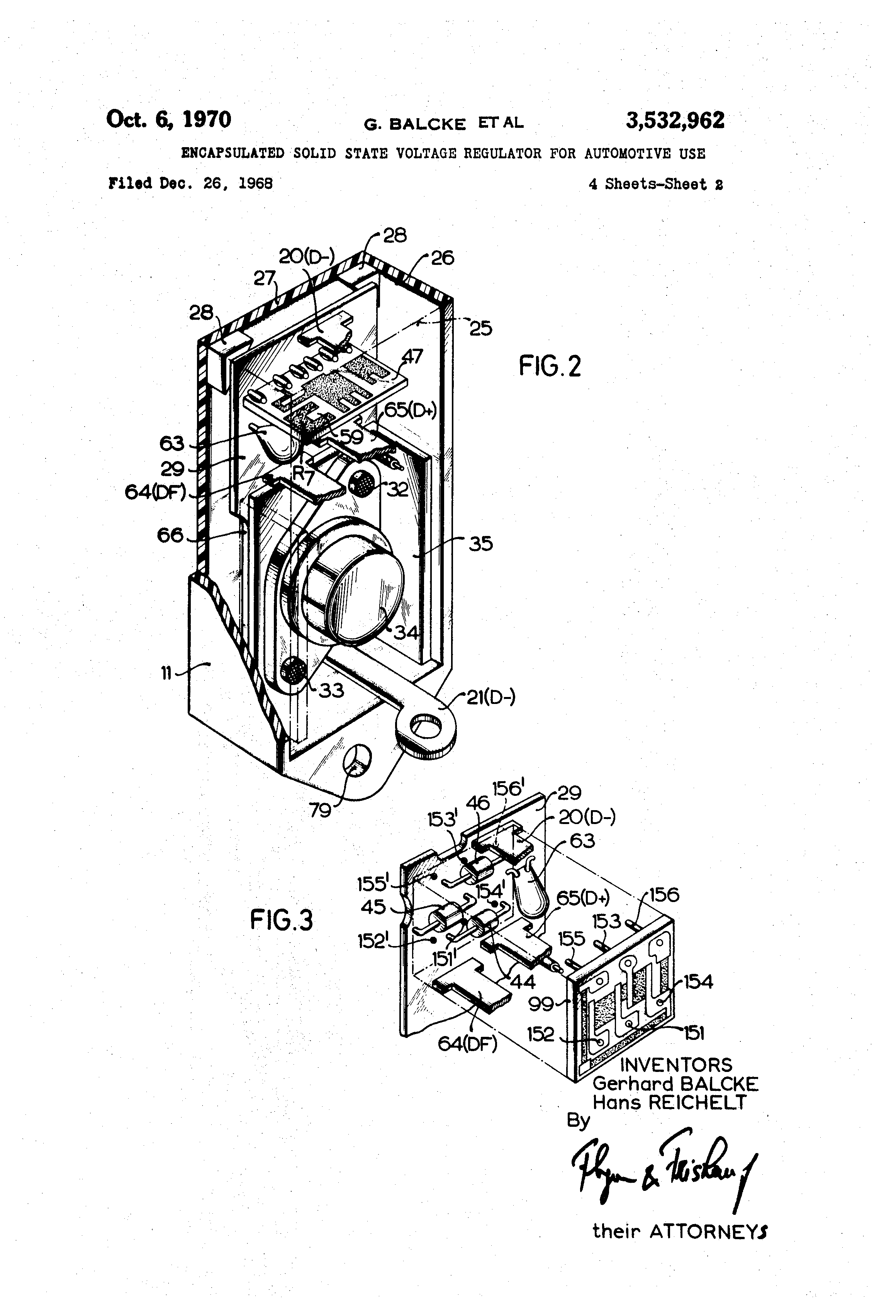 Patent Us3532962 Encapsulated Solid State Voltage Regulator For Wiring Diagram Drawing