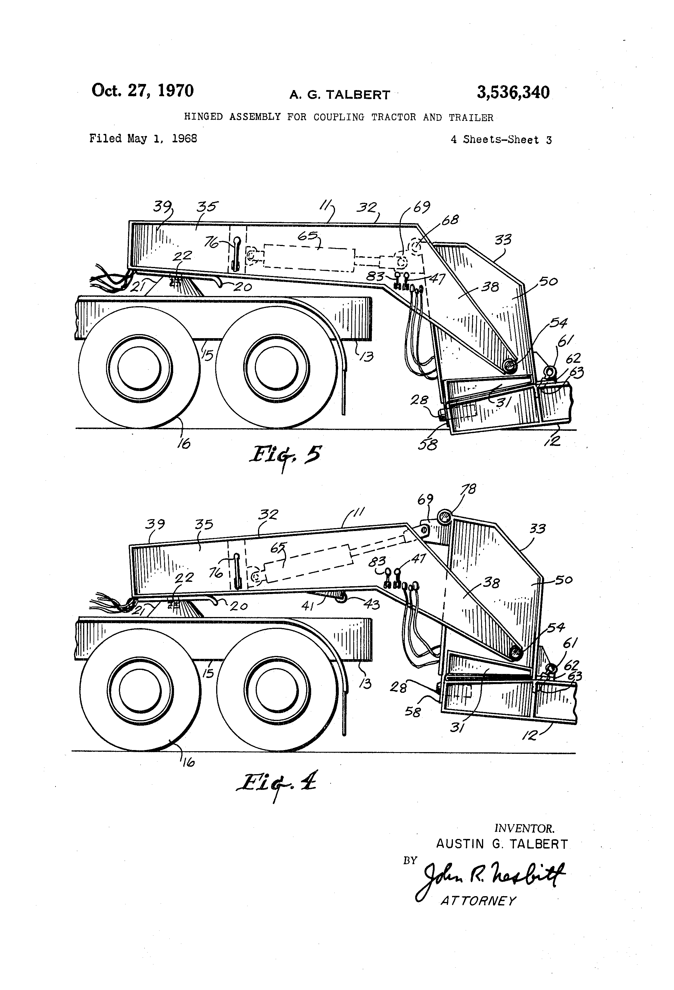 removable gooseneck trailer structure