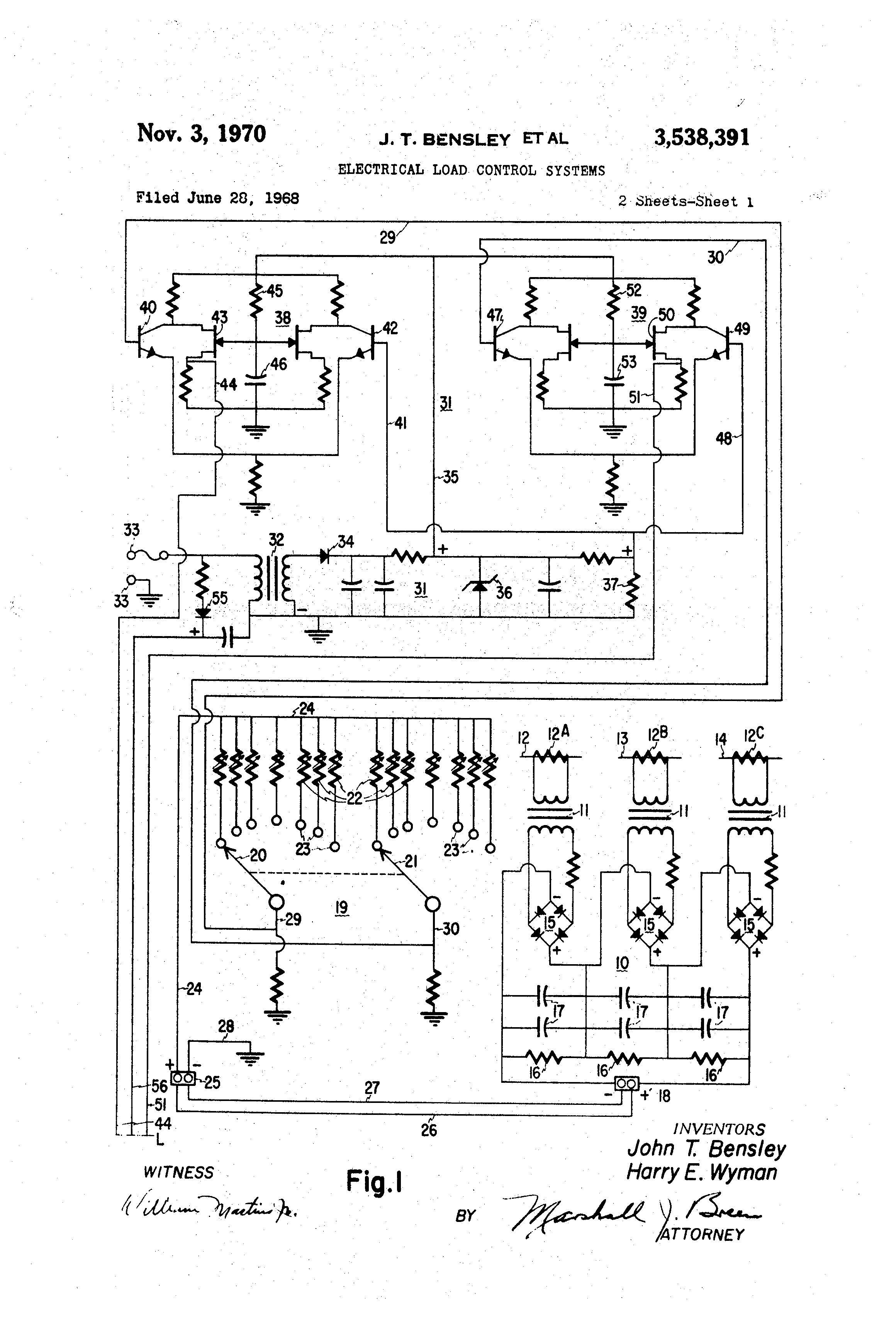 Patent Us3538391 Electrical Load Control Systems Google Patents Mcquay Snyder Three Phase Wiring Diagram Drawing