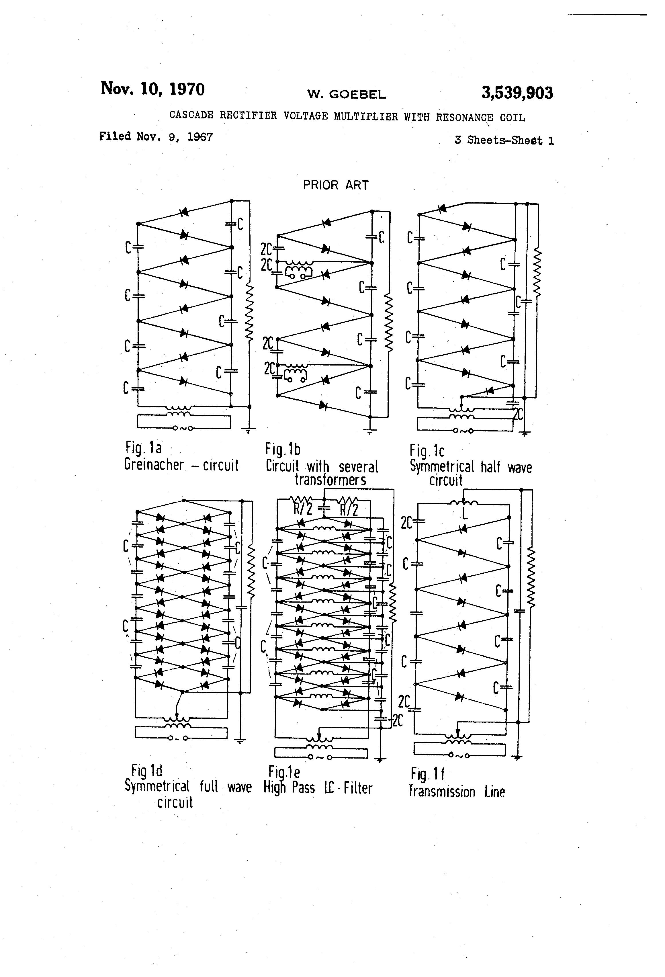 Walton Voltage Multiplier On Dc Voltage Multiplier Circuit Diagram