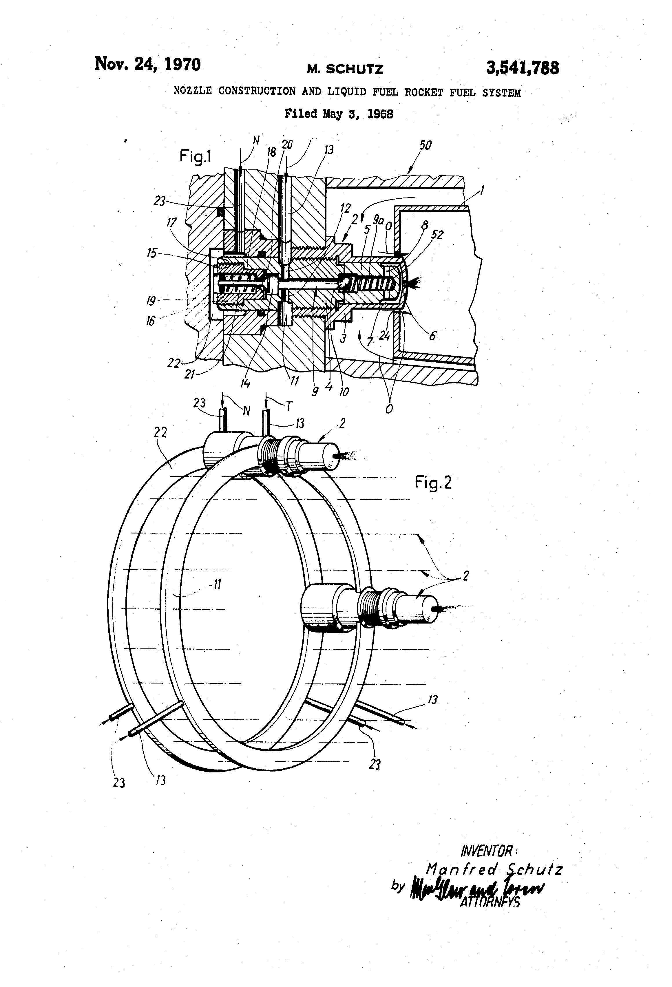 براءة الاختراع US3541788 - Nozzle construction and liquid