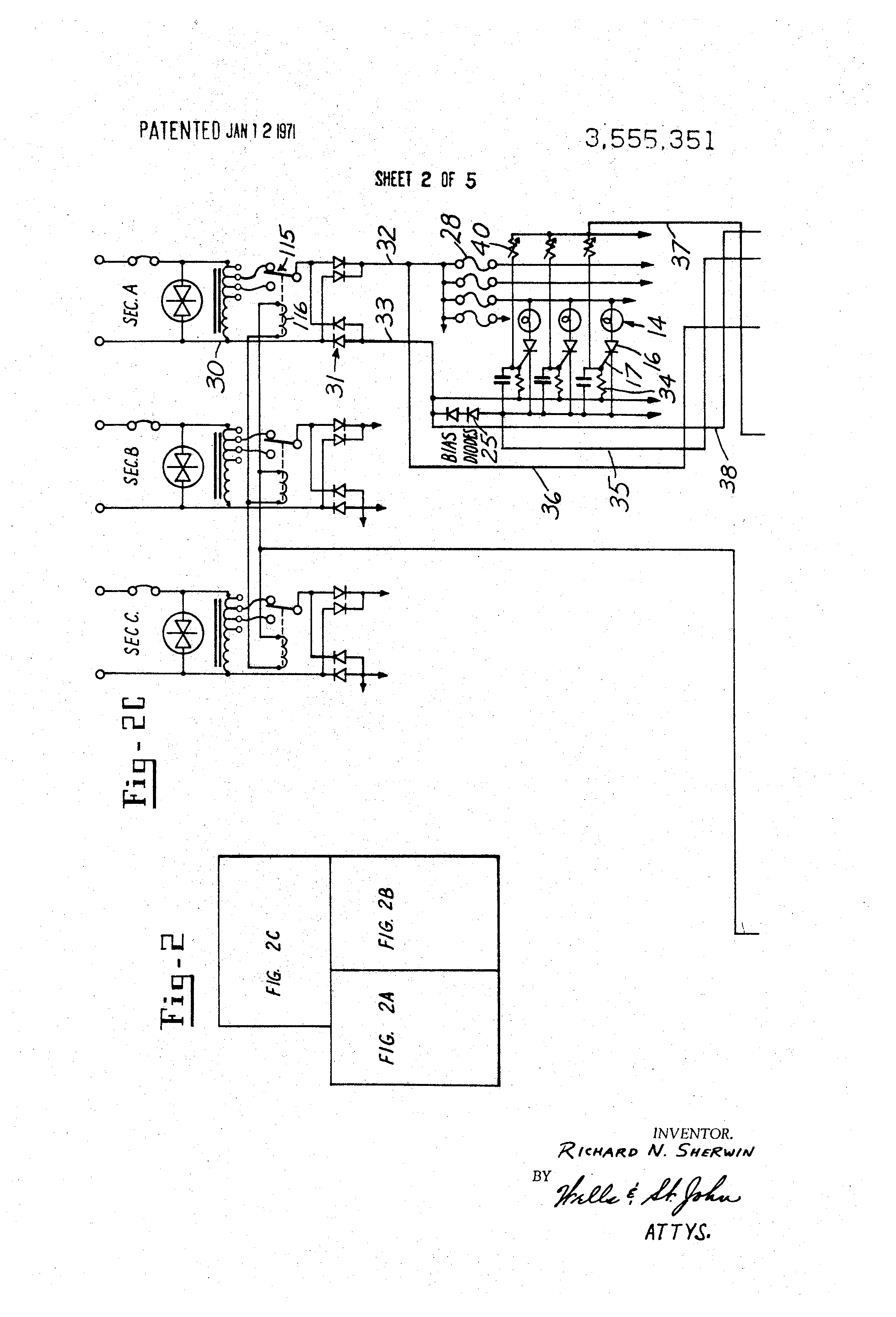 Patent Us3555351 Thyristor Operated Photosensitive Control For Using An Scr Allows The Use Of Lowvoltage Electronics To Drawing