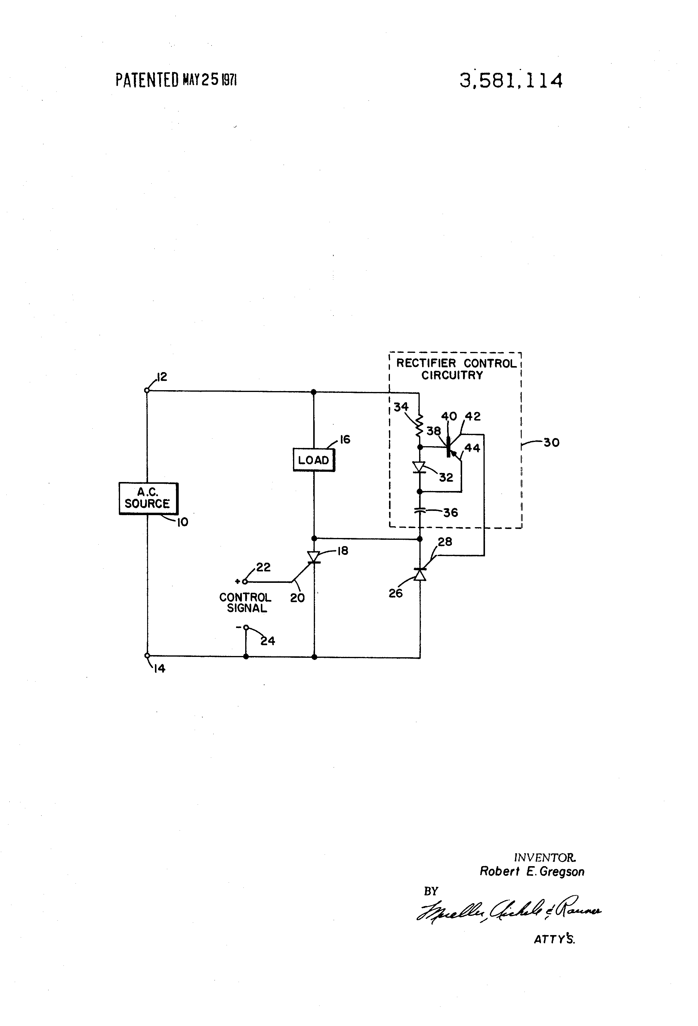 Patent Us3581114 Scr Slaving Circuit Google Patentsuche How To Make Simple Circuits Drawing