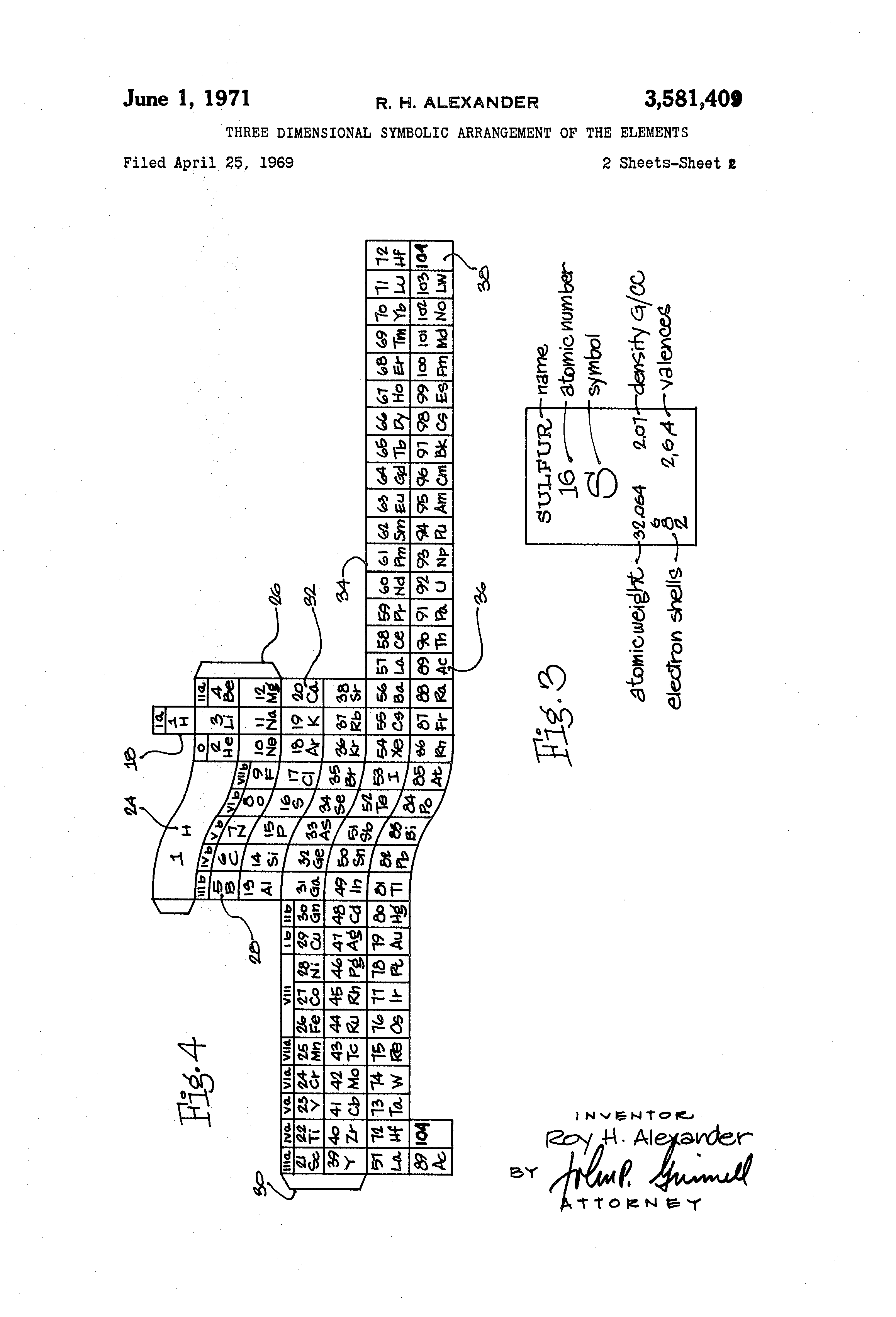 Patent us3581409 three dimensional symbolic arrangement of the patent drawing gamestrikefo Image collections
