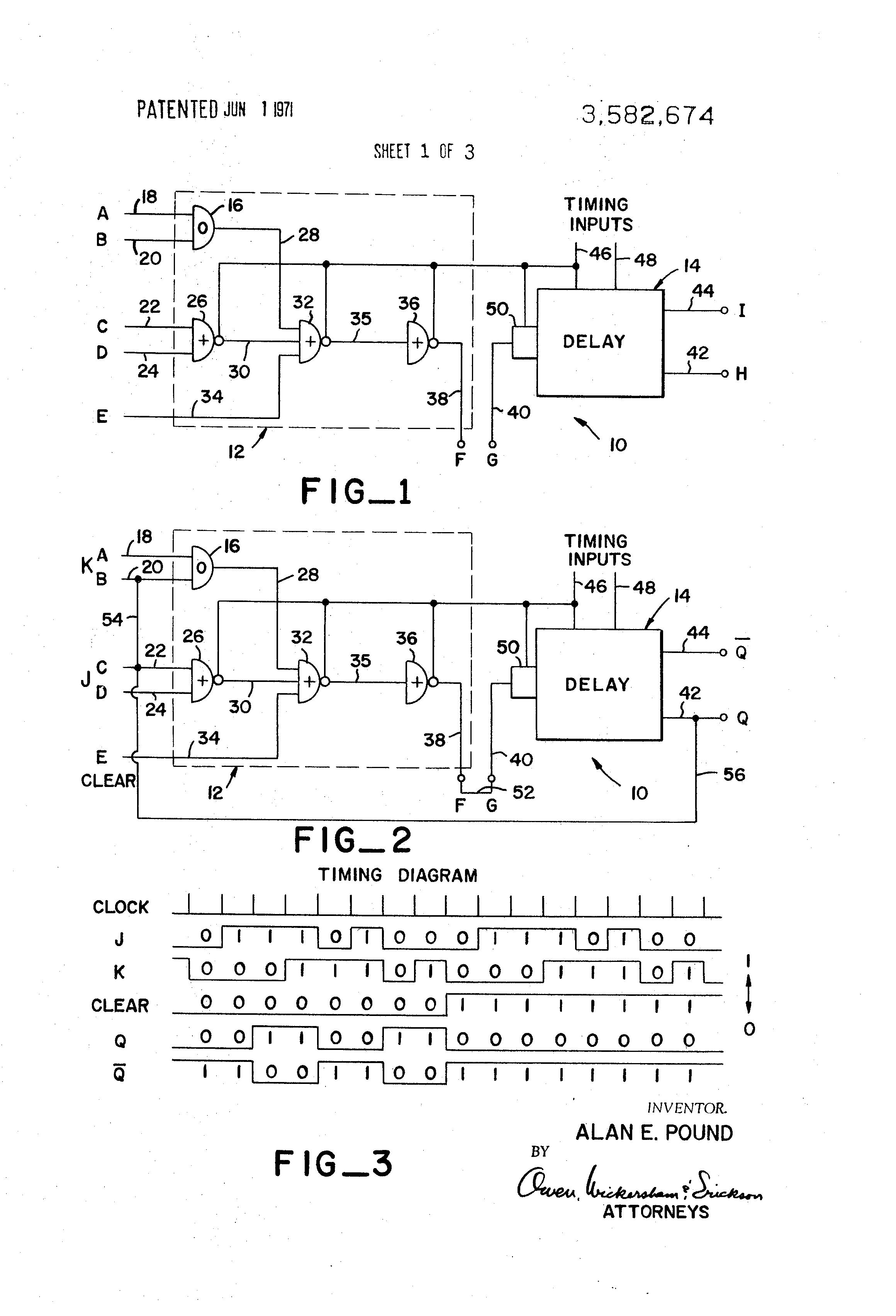Patent Us3582674 Logic Circuit Google Patenten Draw A Diagram Drawing
