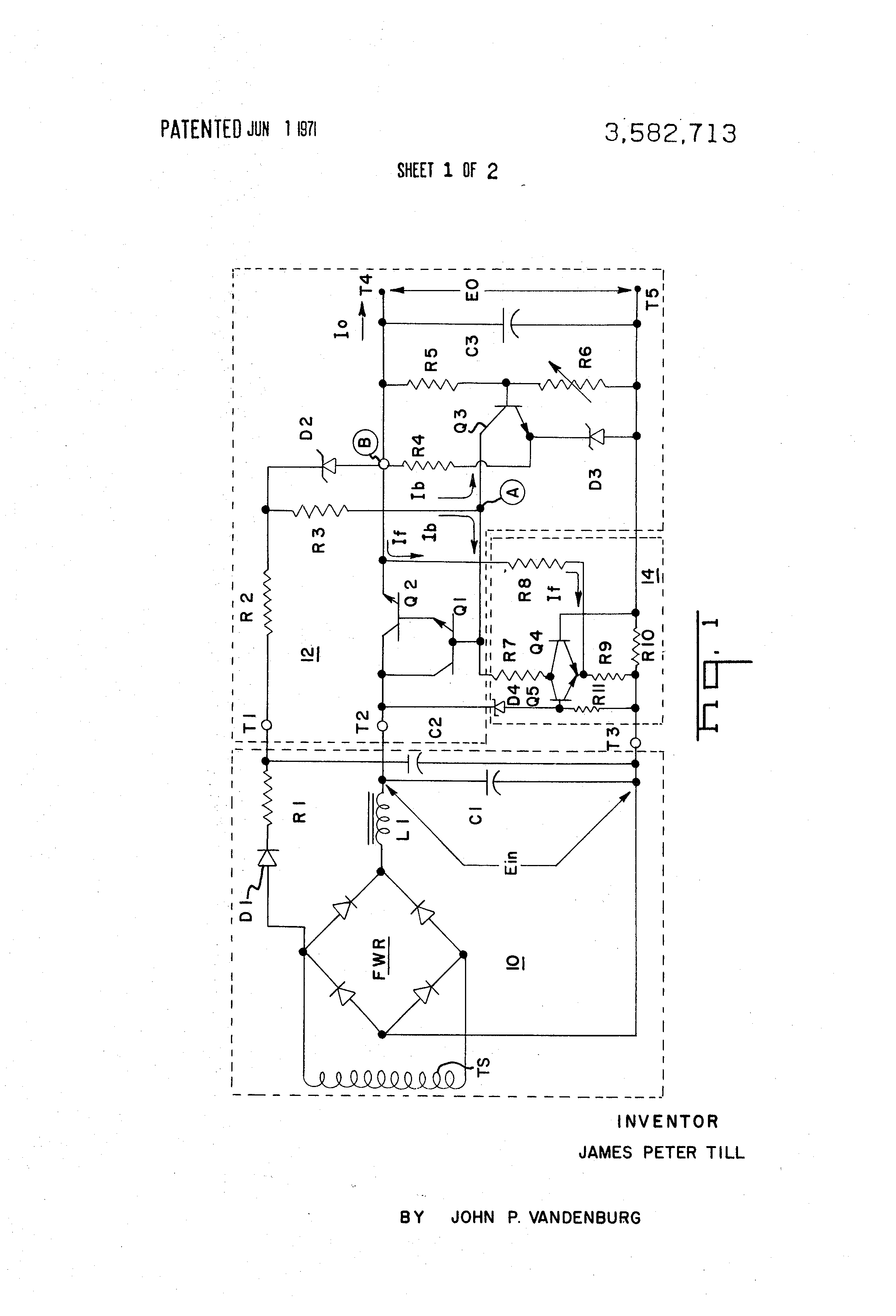 Patent Us3582713 Overcurrent And Overvoltage Protection Circuit Battery Ic Drawing