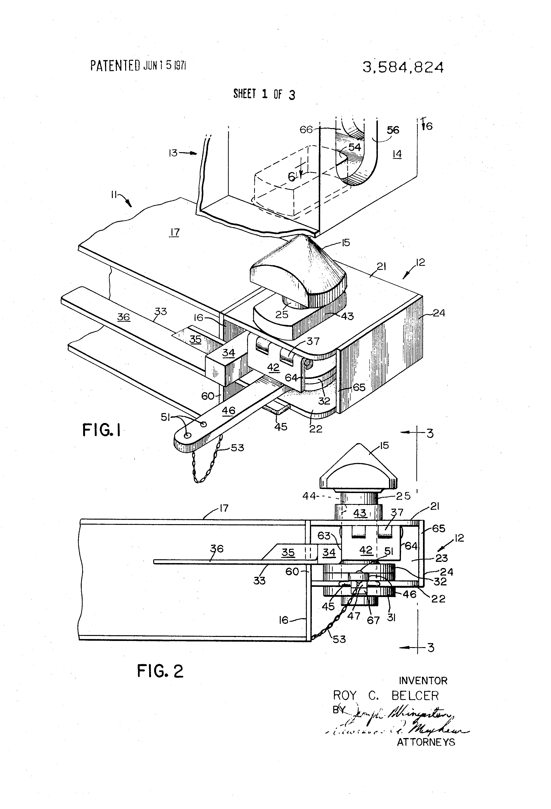 patent us adjustable twist lock patents patent drawing