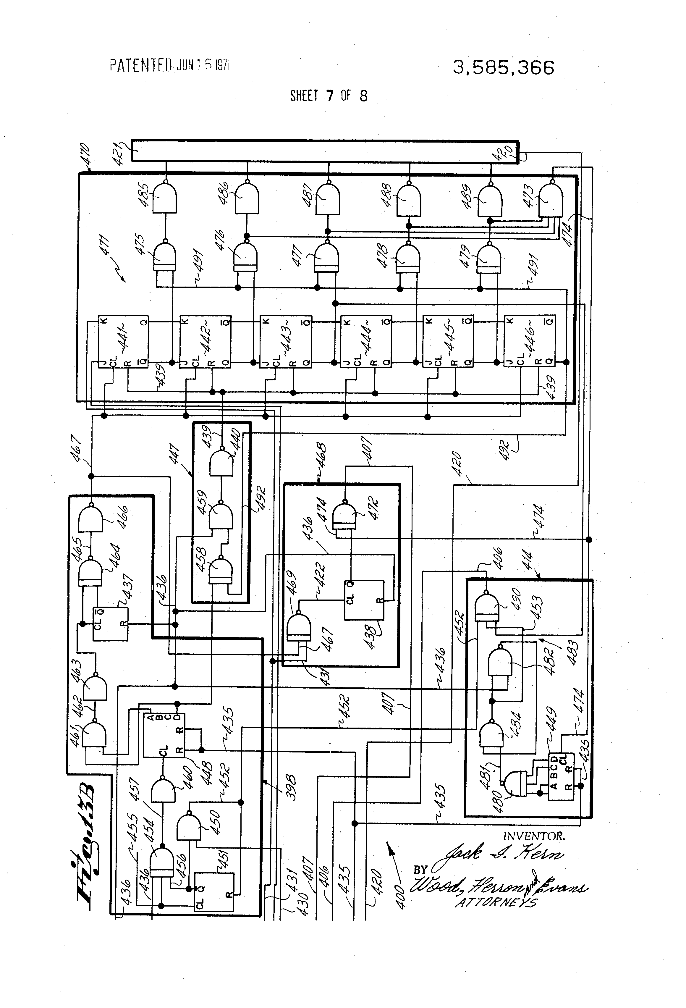 Us3585366 Self Timing Encoded Tag Reader Inverter Schematic Diagram Group Picture Image By Patent Drawing