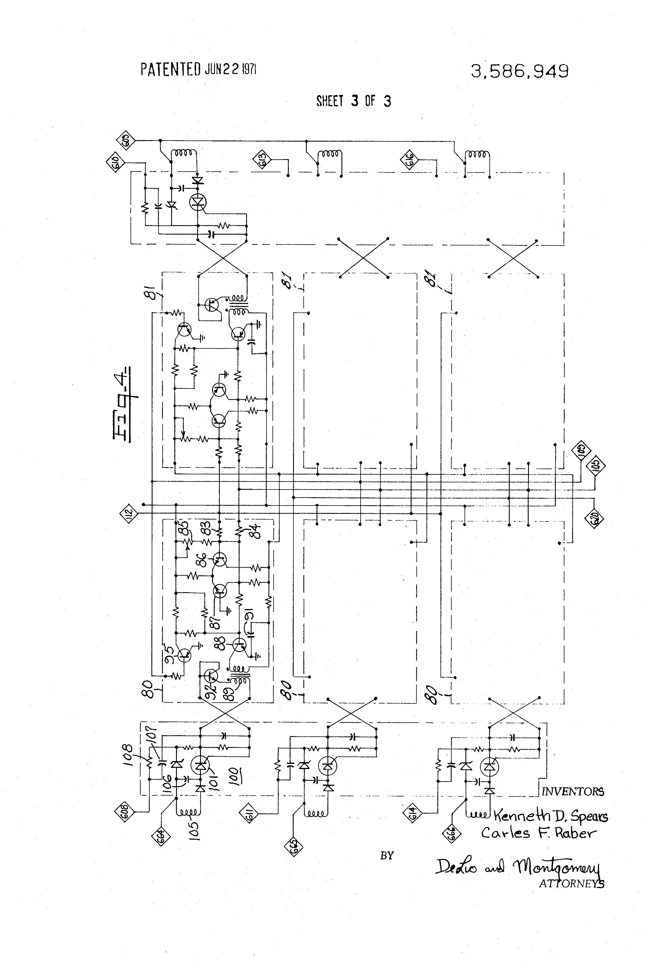 Patent Us3586949 Three Phase Dc Motor Control System Google Patents