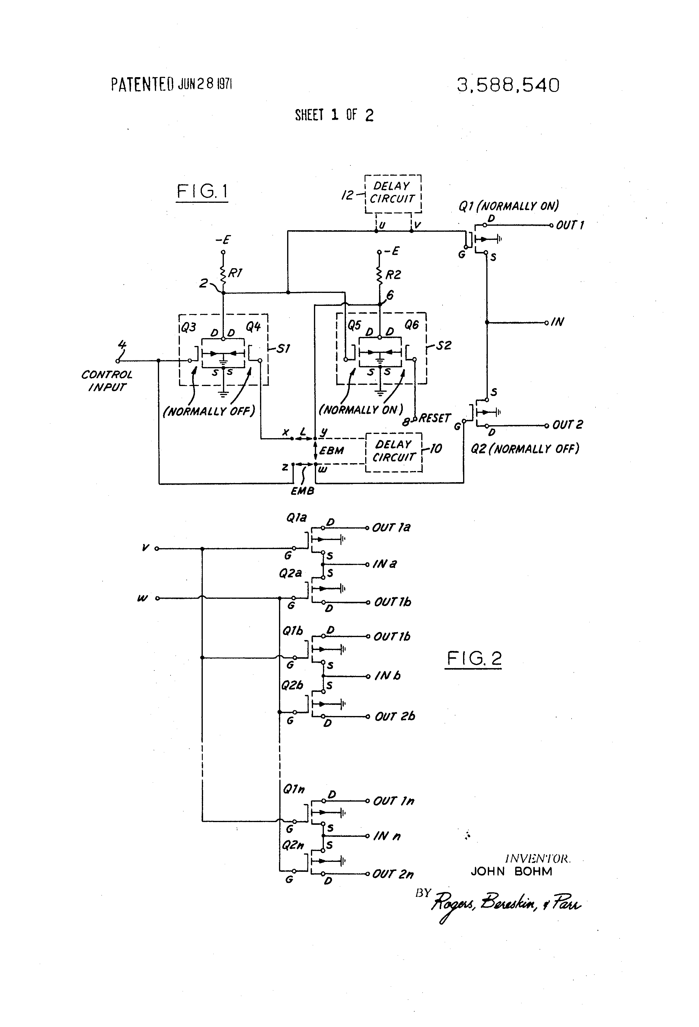 Patent Us3588540 Adjustable Relay Google Patents Emb Current Drawing