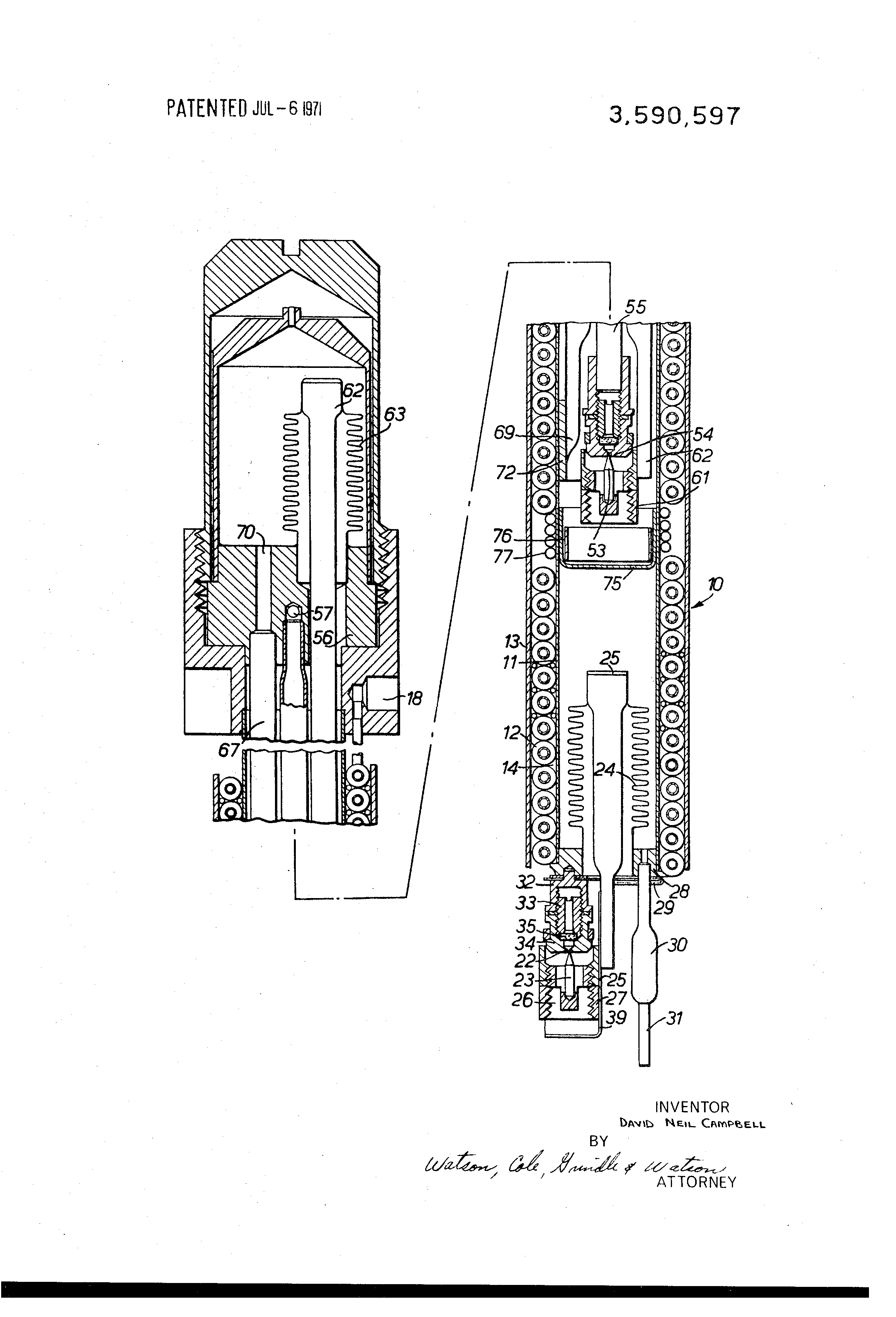 Brevet US3590597 - Cooling apparatus employing the joule