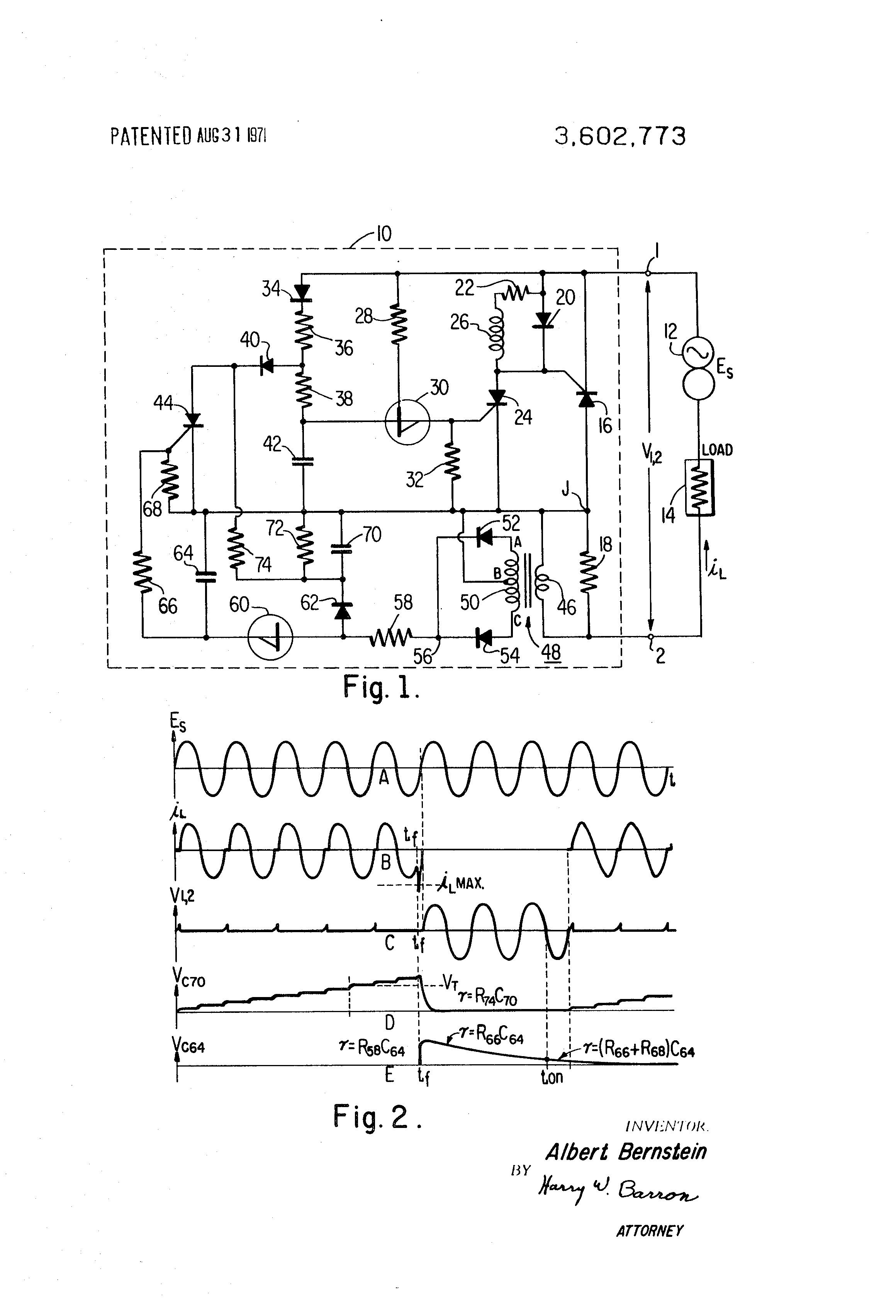 Patent US3602773 - Ac overcurrent protection circuit - Google Patents