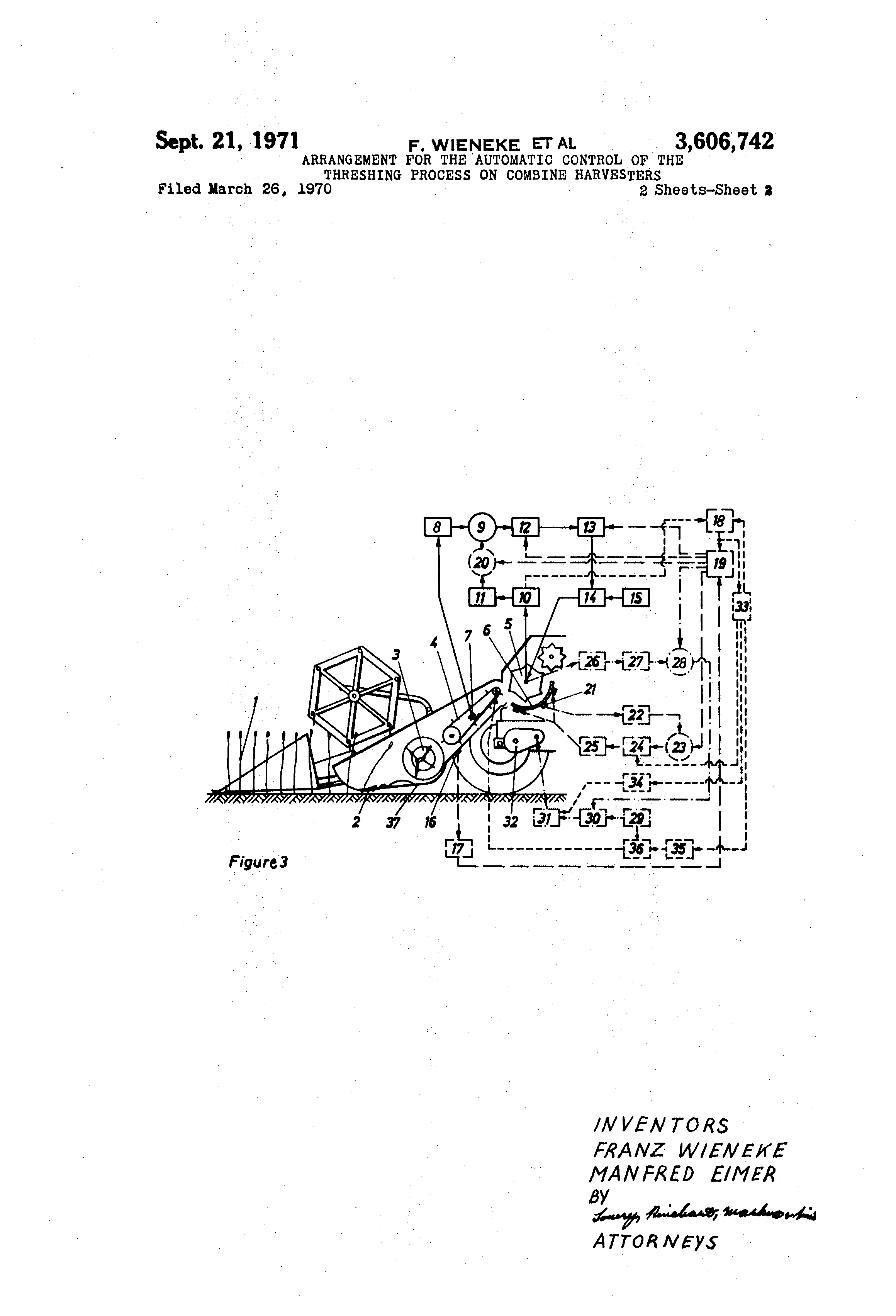 Patent Us3606742 Arrangement For The Automatic Control Of Hydraulic Pressure Circuit Controlcircuit Drawing