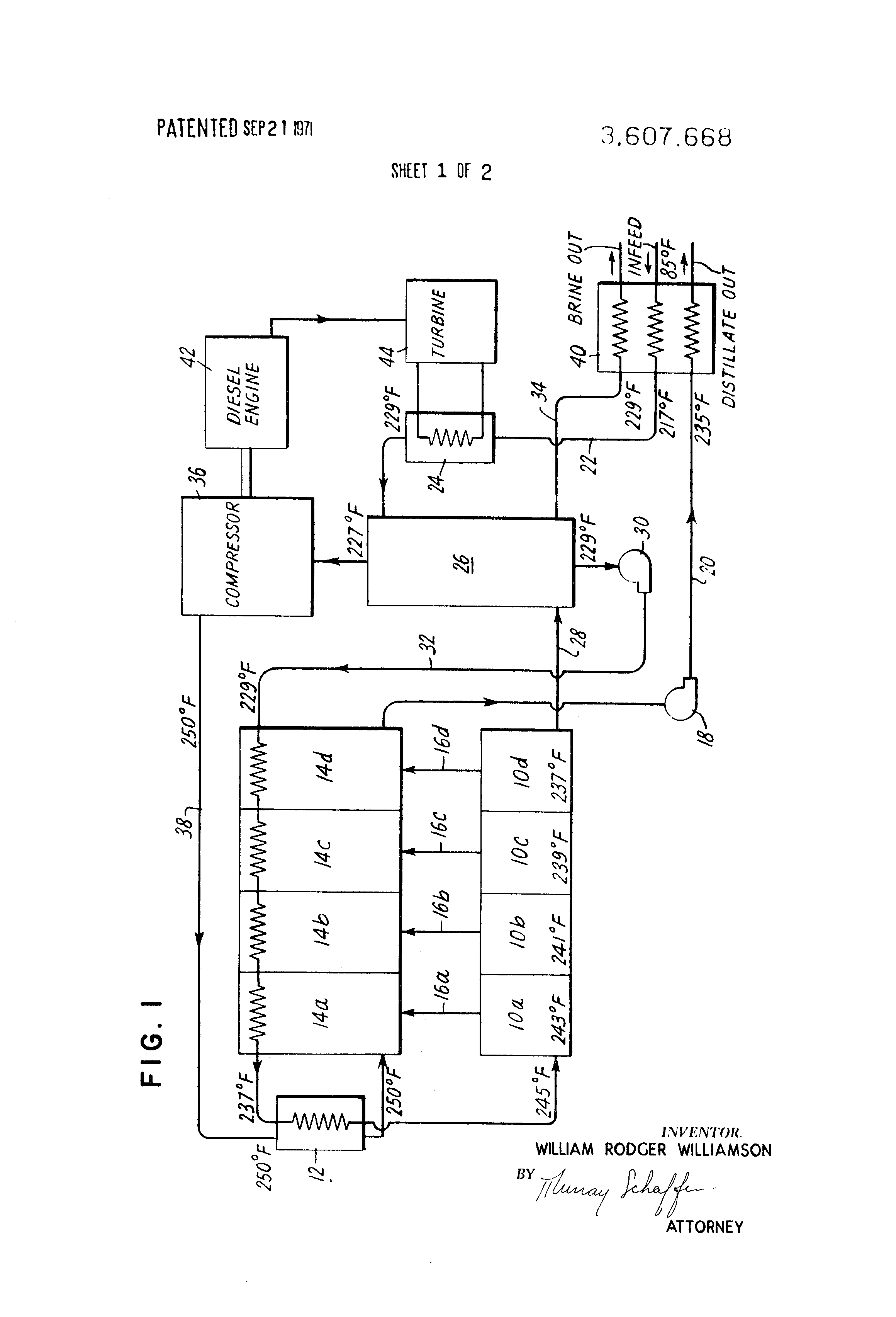 Patent US Concentrated brine in ing feed vapor