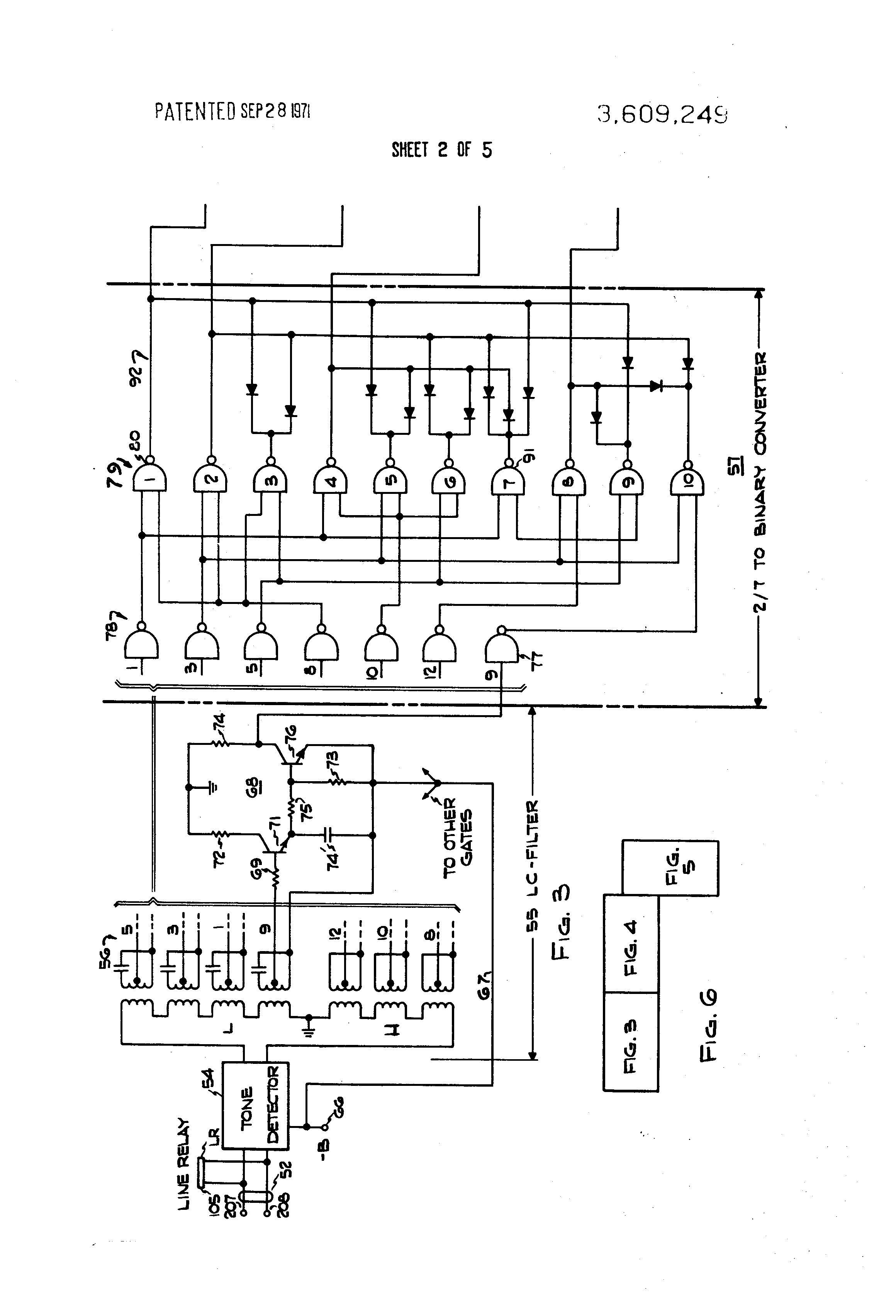 Patent Us3609249 Key Telephone Systems Using Pushbutton Or Rotary Figure 1 Simple Intercom Circuit Tree Transistors Drawing