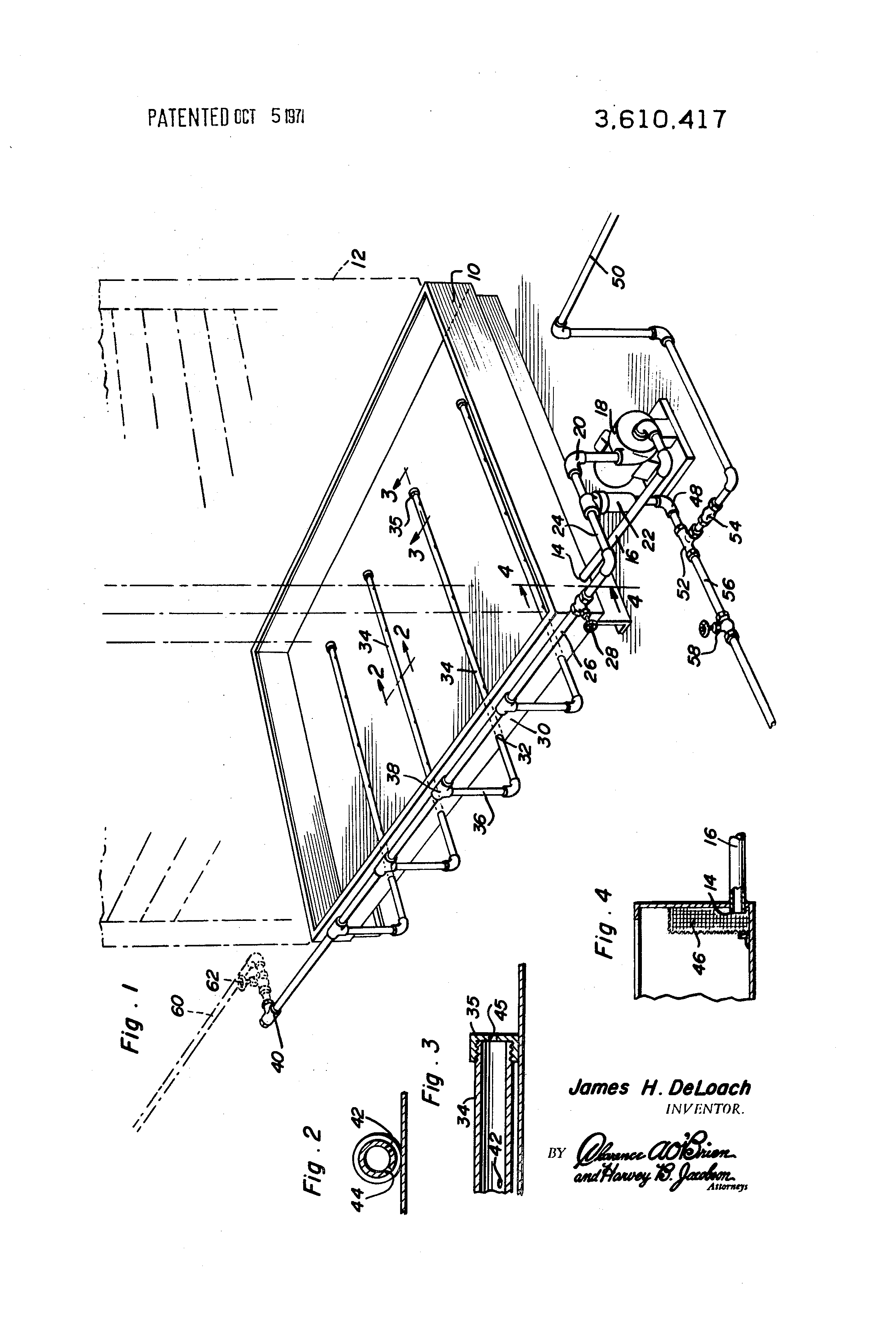 patent us3610417 system for preventing sludge formation in a Blaed Blasting Machine patent drawing