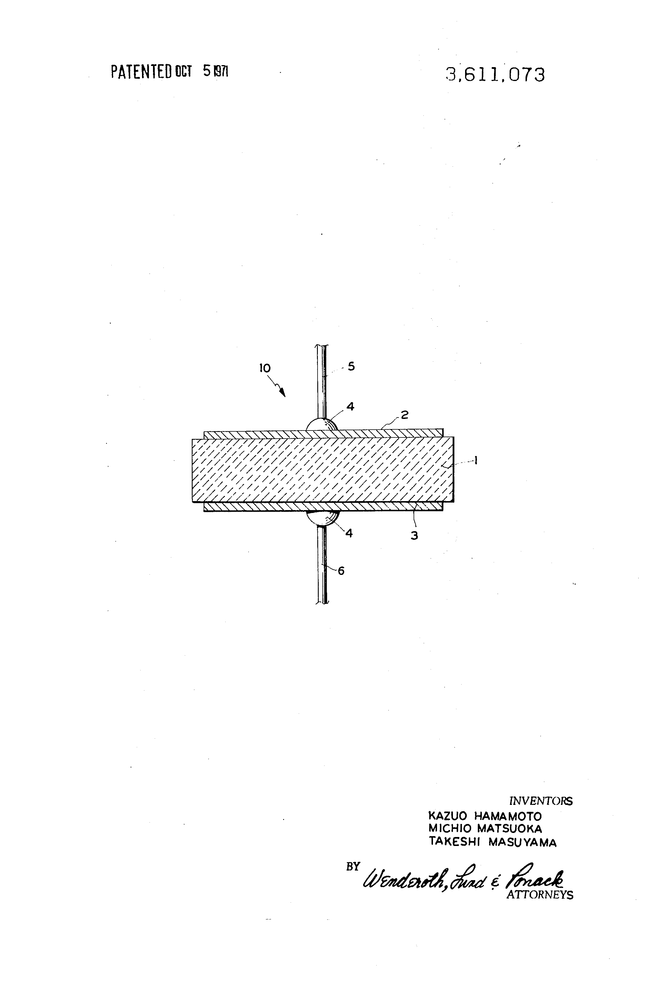 patent us3611073 diode comprising zinc oxide doped with gallium