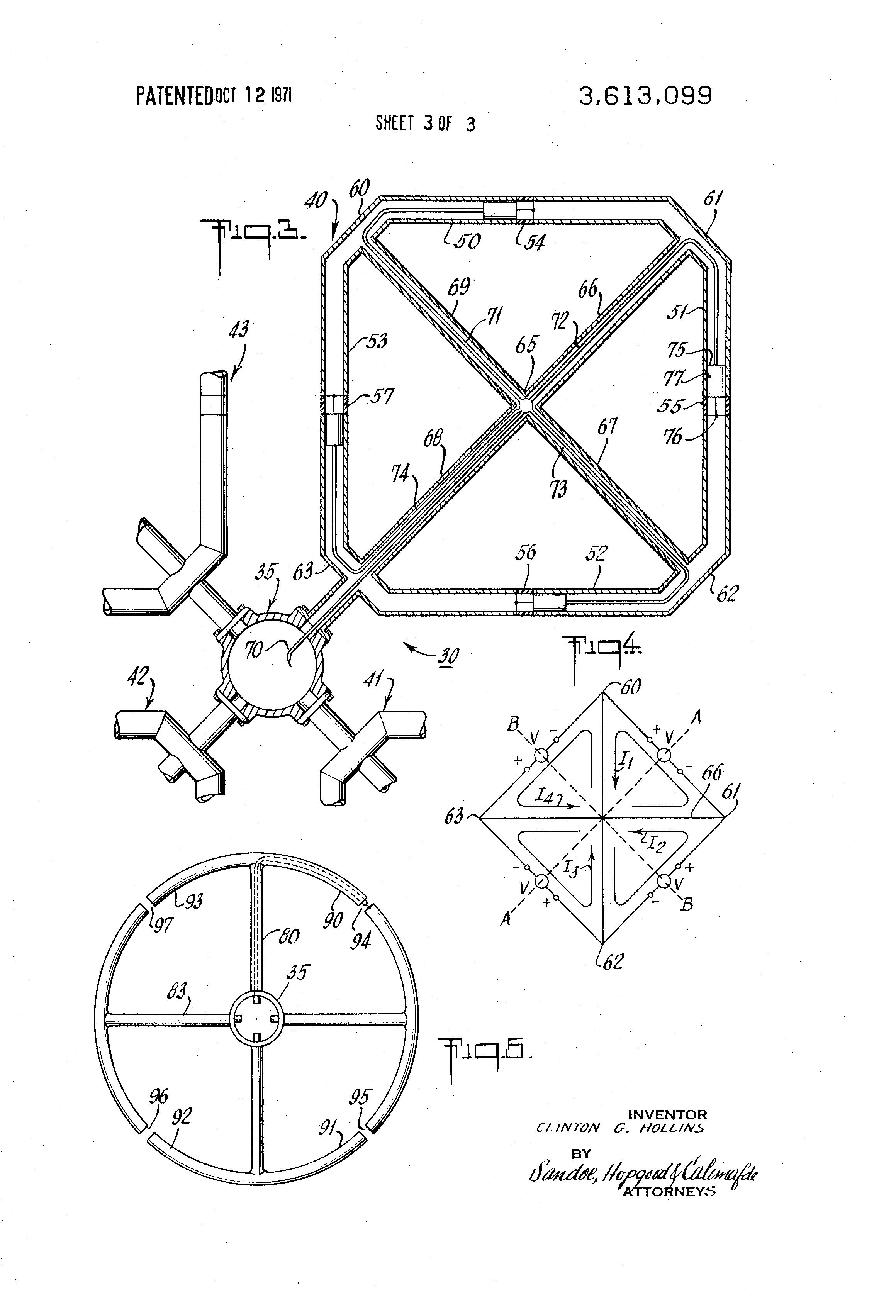 Patent Us3613099 Vor Antenna System Google Patents