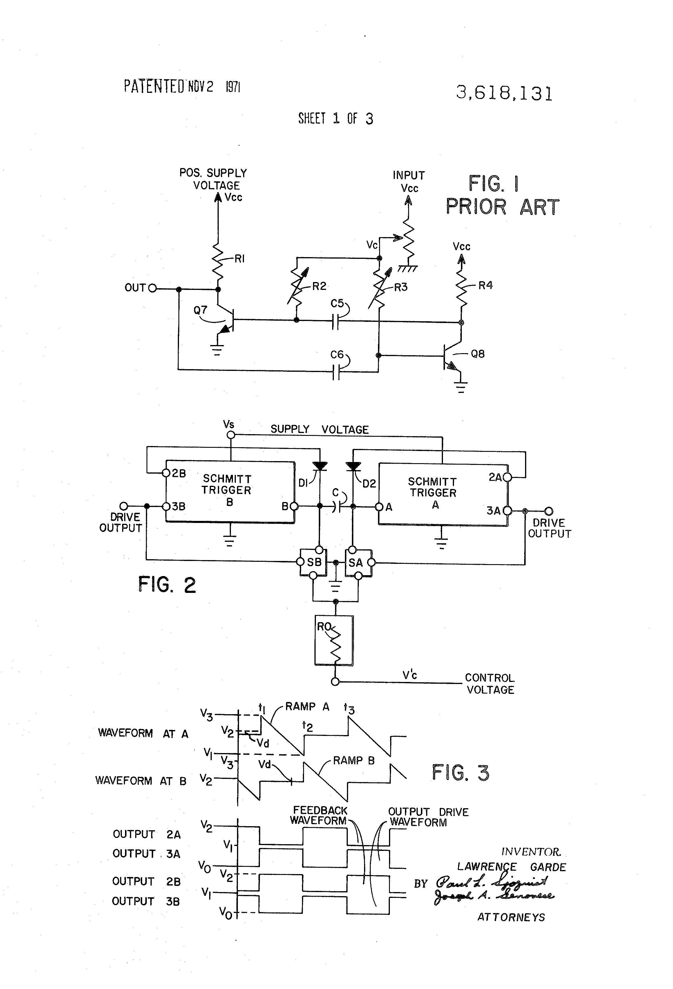 Patent Us3618131 Voltage Controlled Oscillator Google Patentsuche Figure 1 Representative Circuit For A Capacitorcharging Drawing