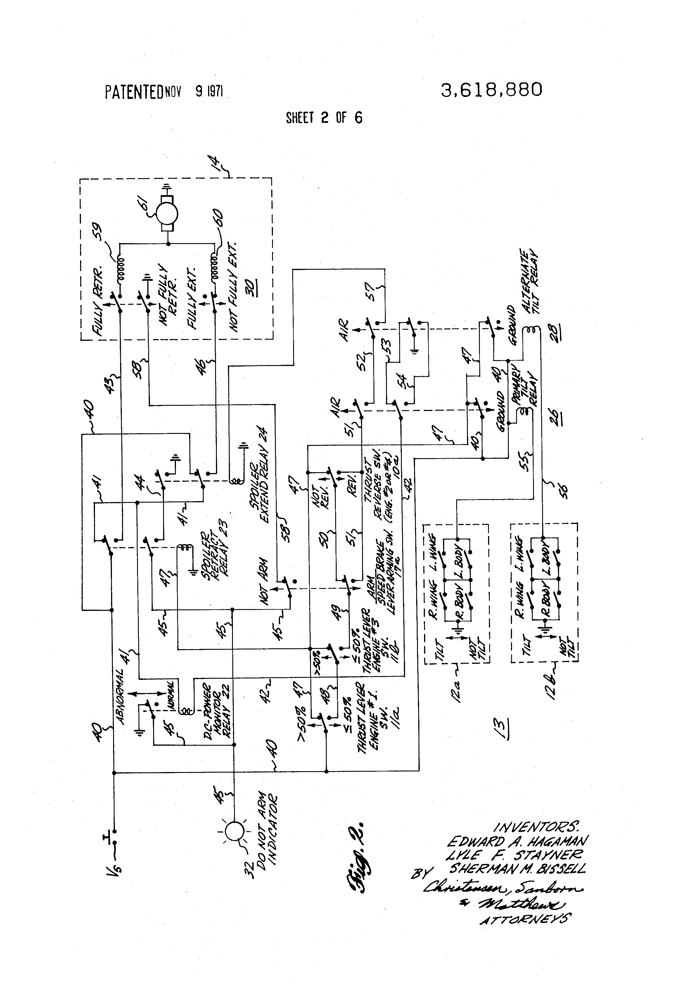 patent us3618880 speed brake system for aircraft spoilers Airplane Wing Parts Diagram patent drawing