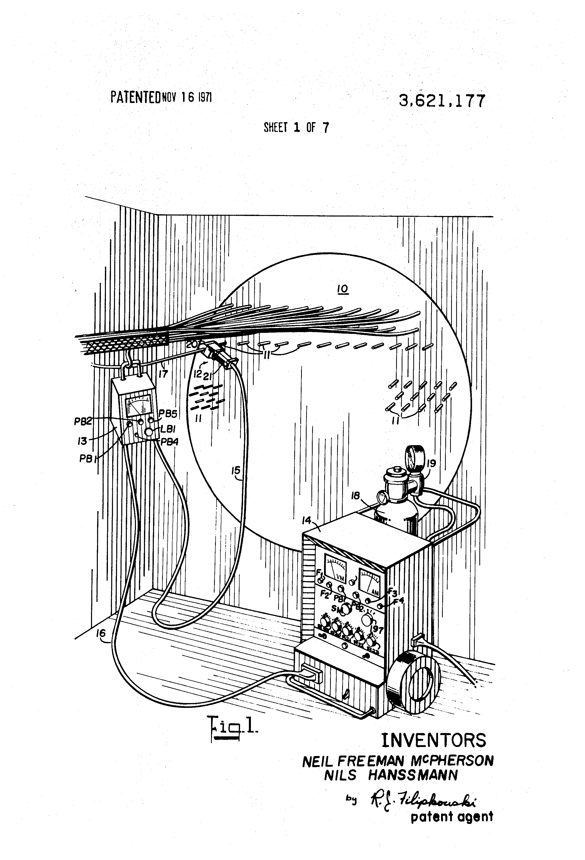 Patent Us3621177 Method And Apparatus For Tig Tube Welding Line Diagram Drawing