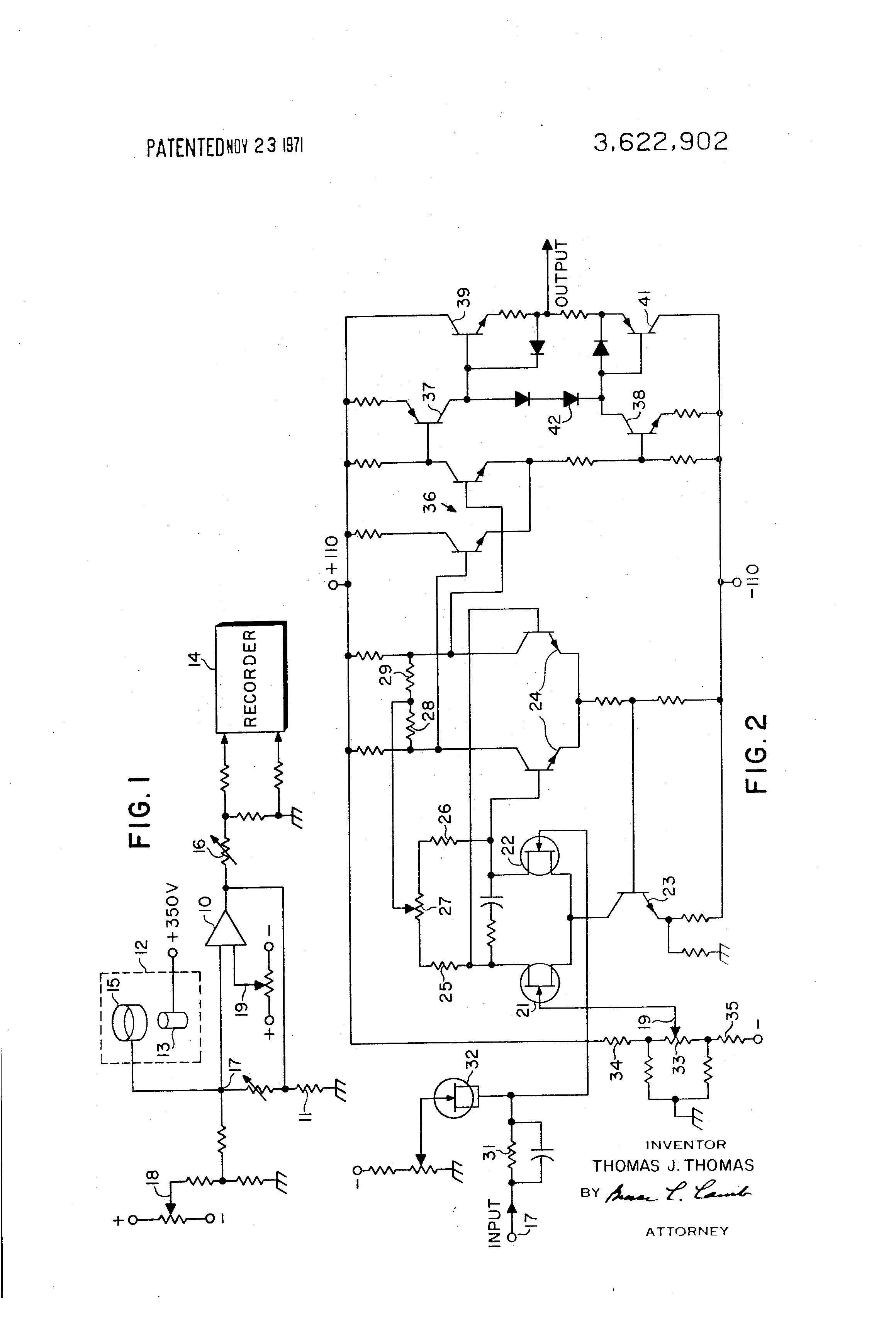patent us3622902 - fet differential amplifier