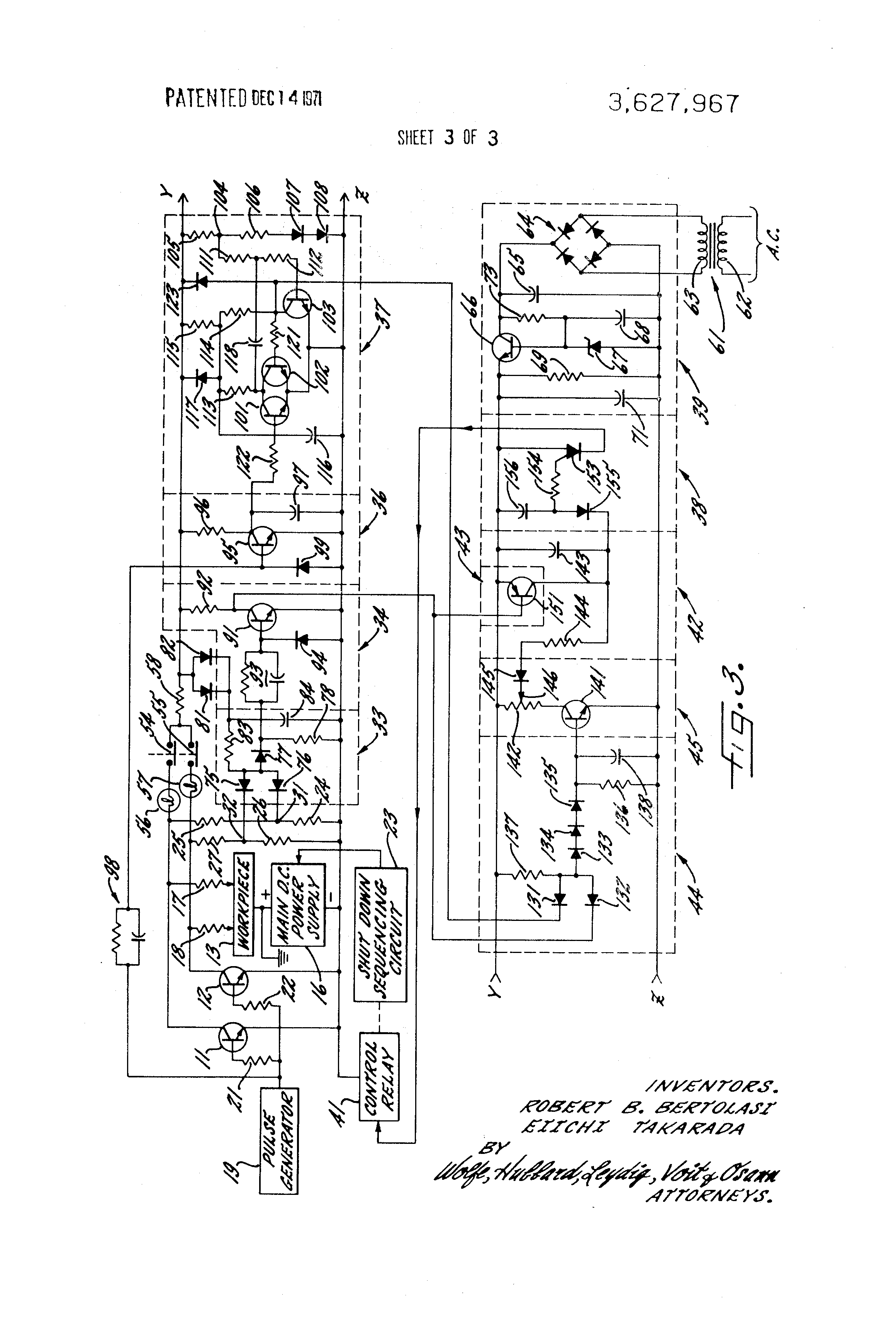 Patent Us3627967 Power Switch Short Circuit Detector For Edm