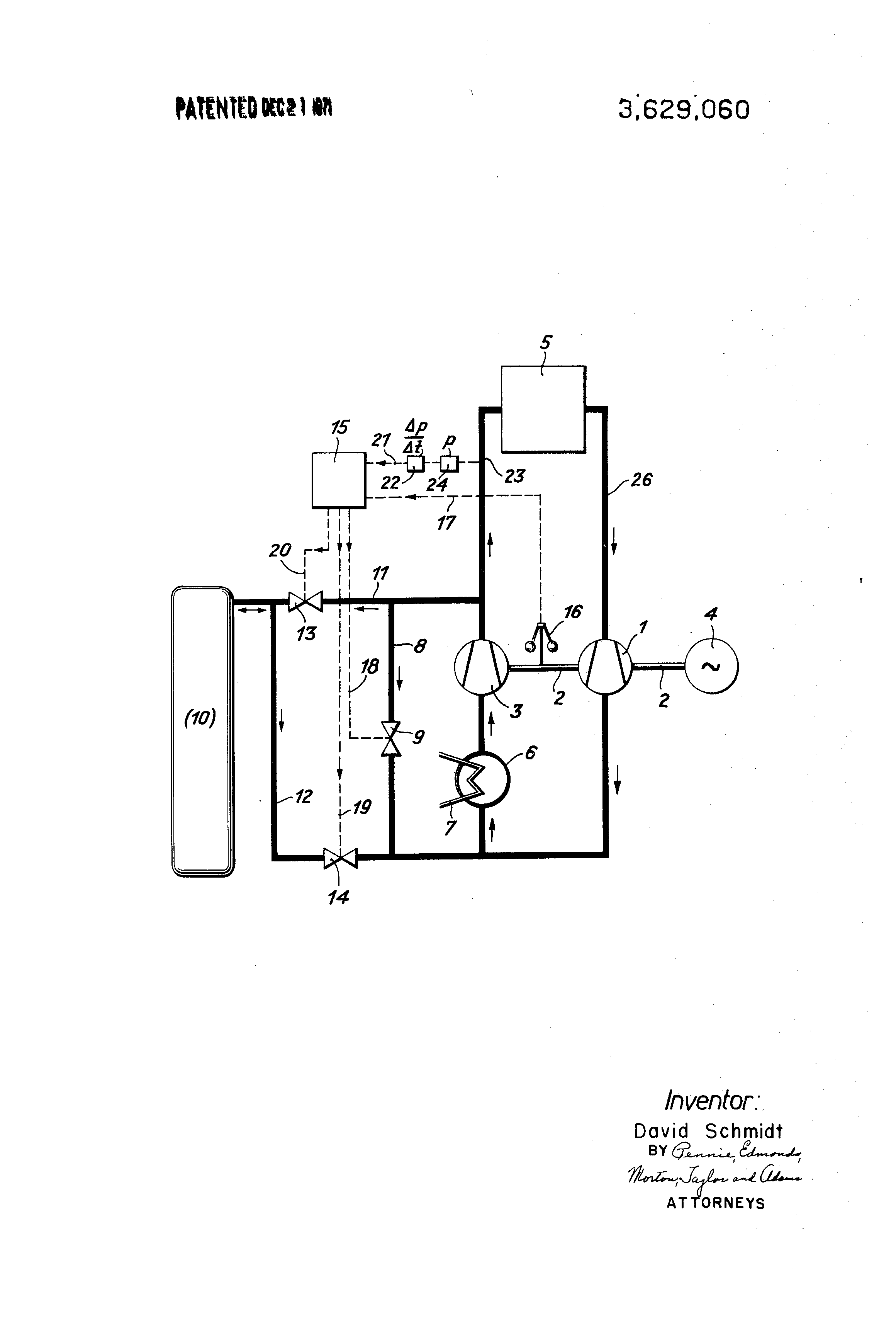 Patent US Closed cycle gas turbine nuclear powerplant