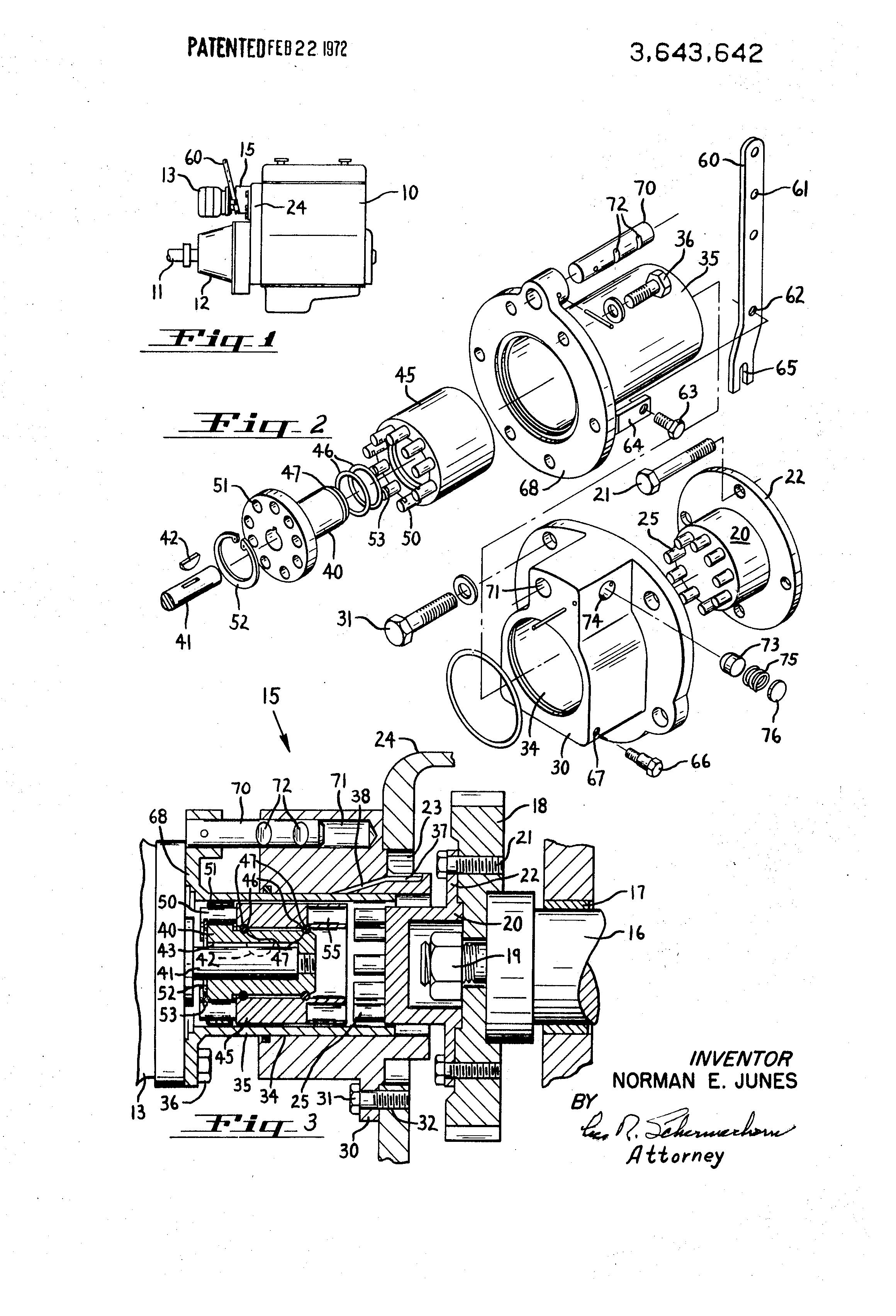 براءة الاختراع us3643642 power takeoff on marine diesel engine